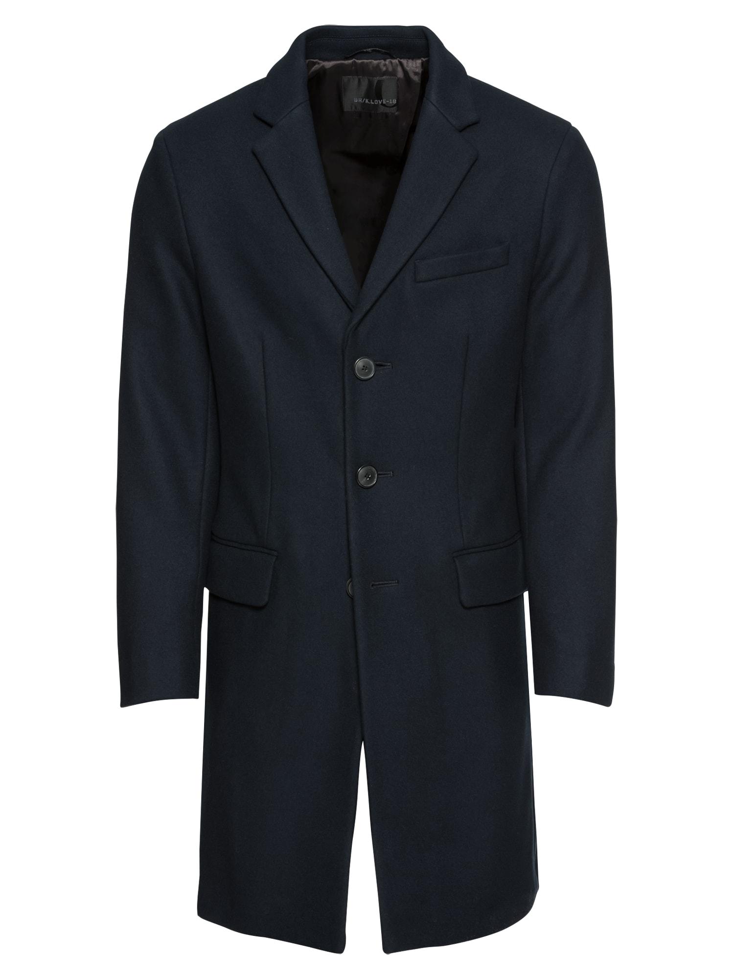 Přechodný kabát WOOL KNIT TOPCOAT noční modrá Banana Republic