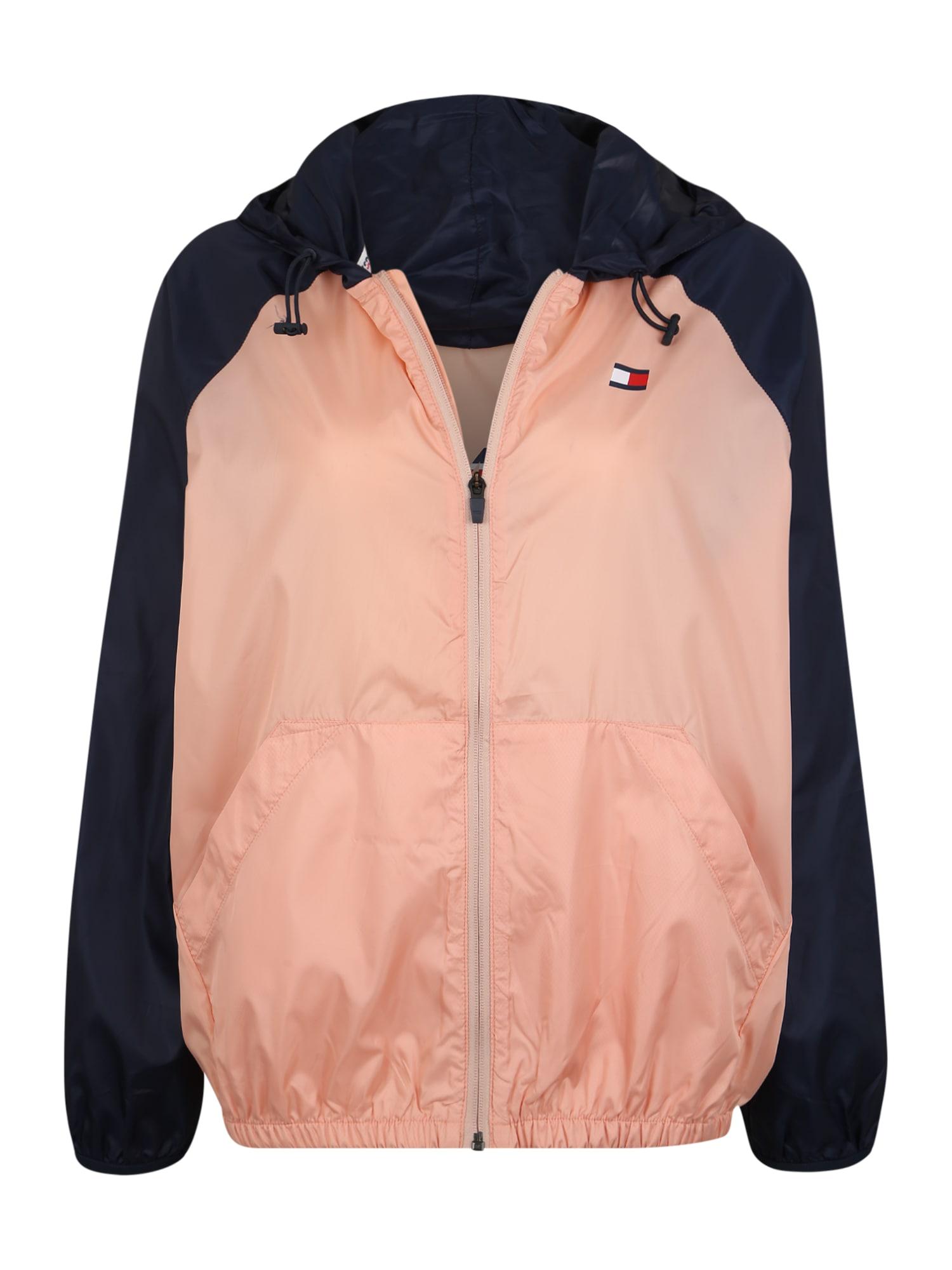 Sportovní bunda BLOCKED WINDBREAKER marine modrá růžová Tommy Sport