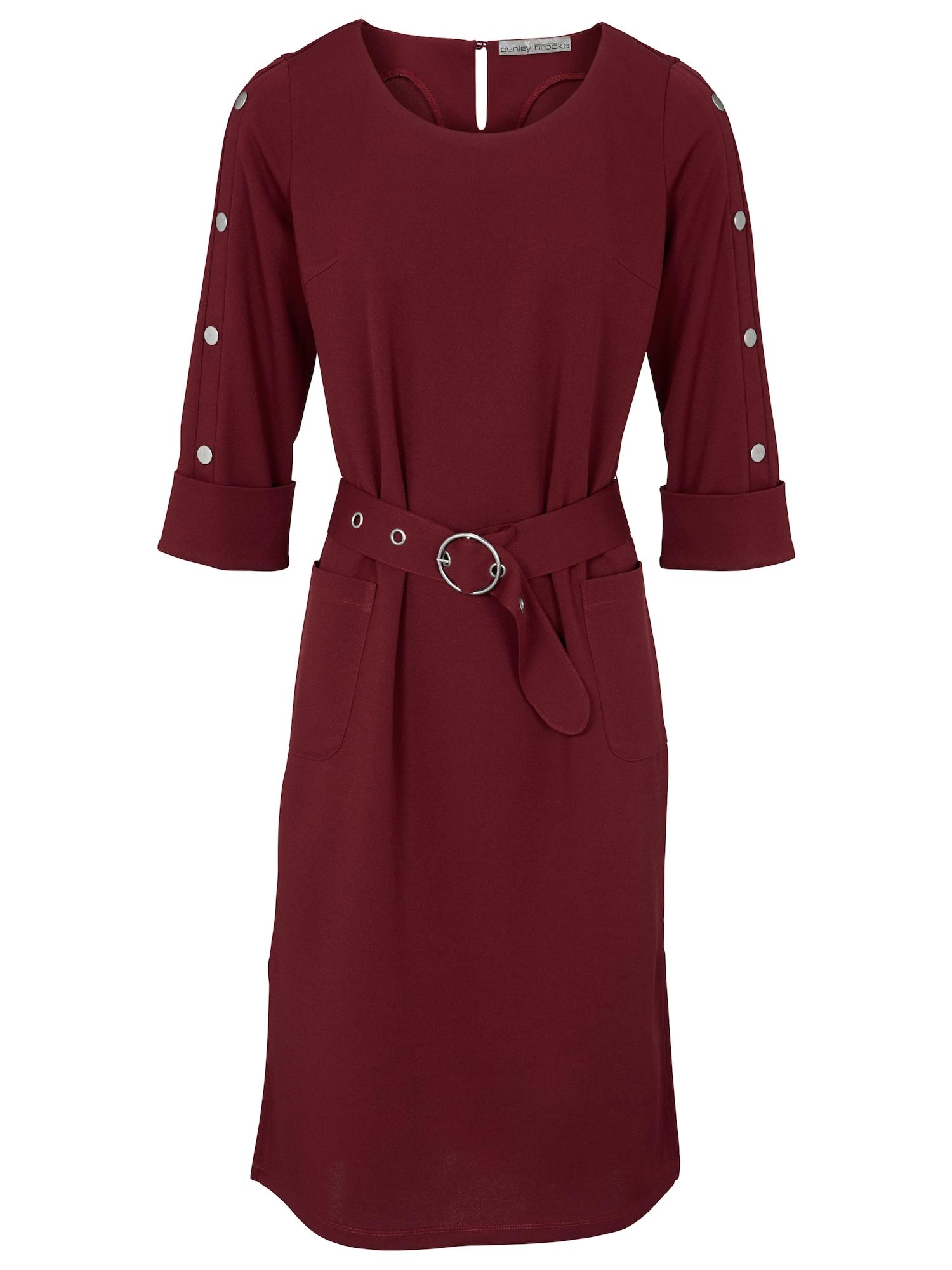 Pouzdrové šaty vínově červená Heine