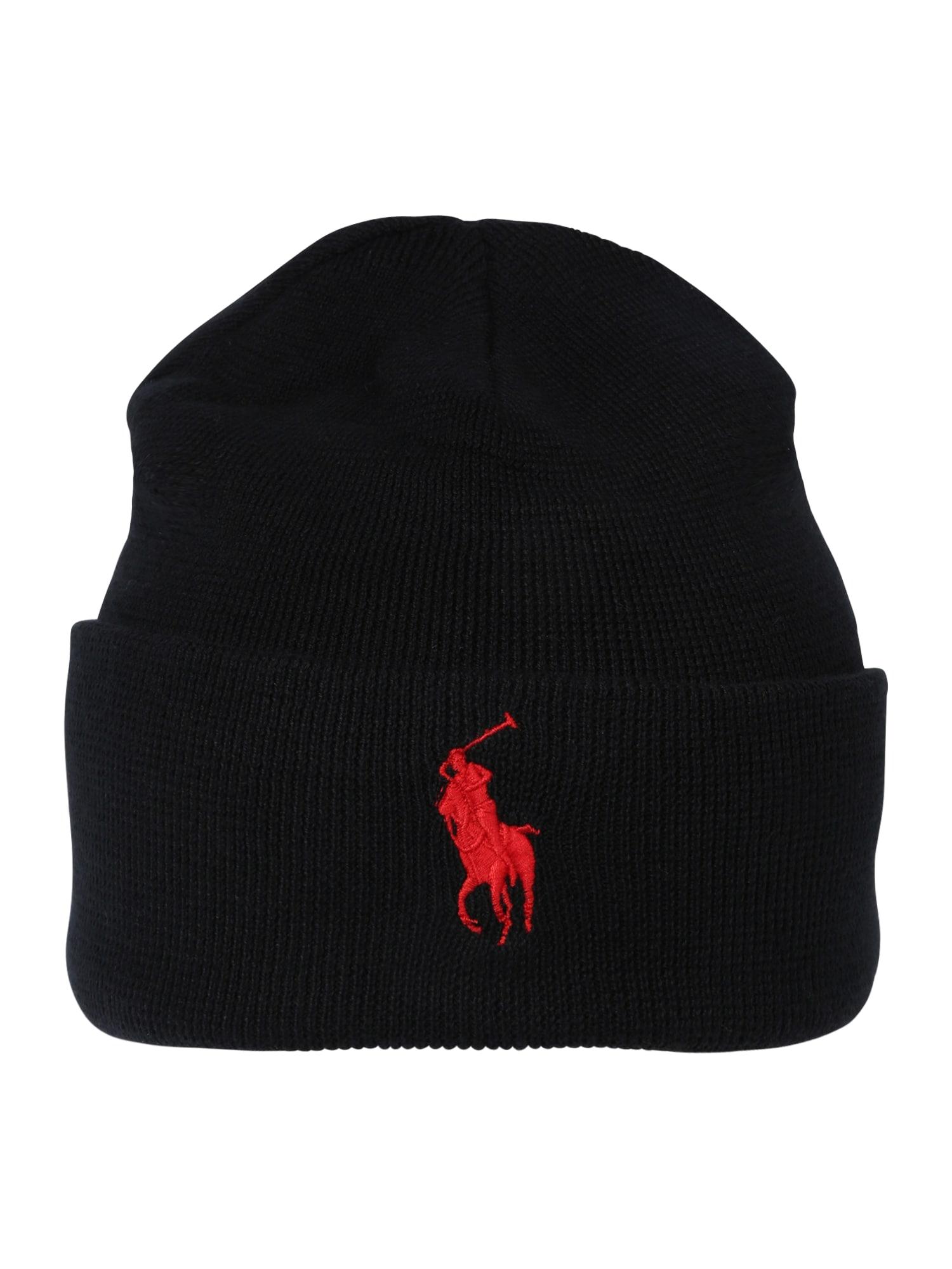 Čepice červená černá POLO RALPH LAUREN