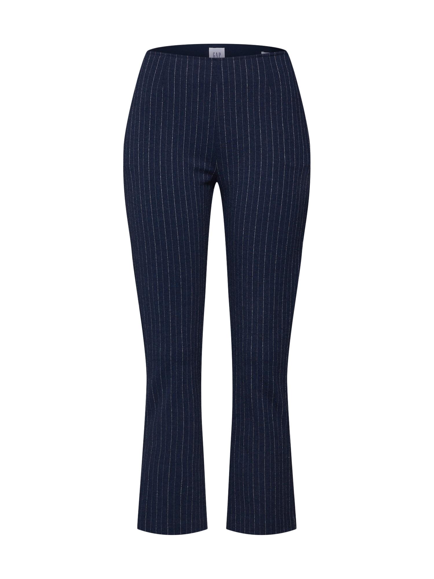 Kalhoty PONTE CROP FLARE YD námořnická modř bílá GAP