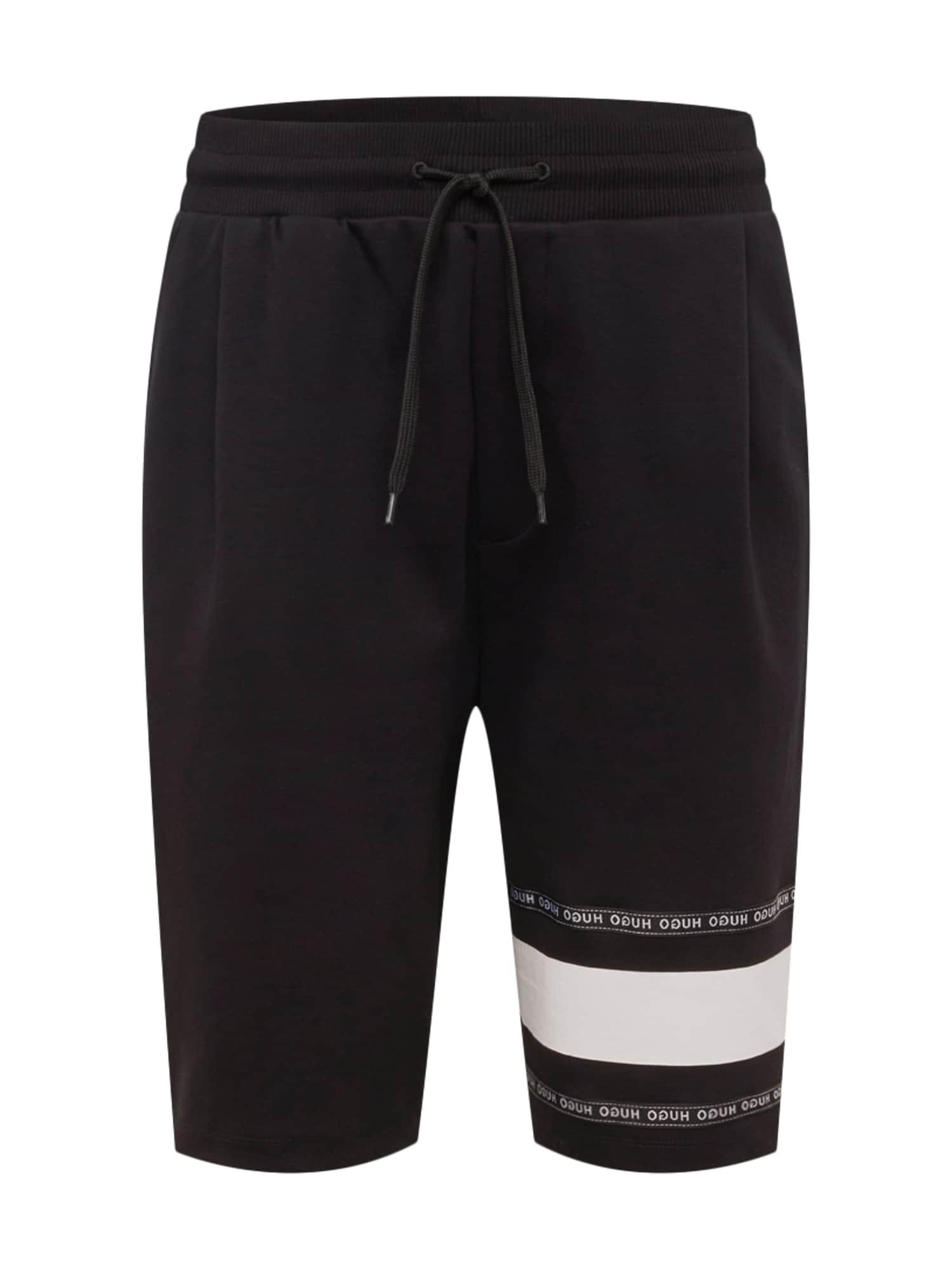 Kalhoty Dorts černá bílá HUGO