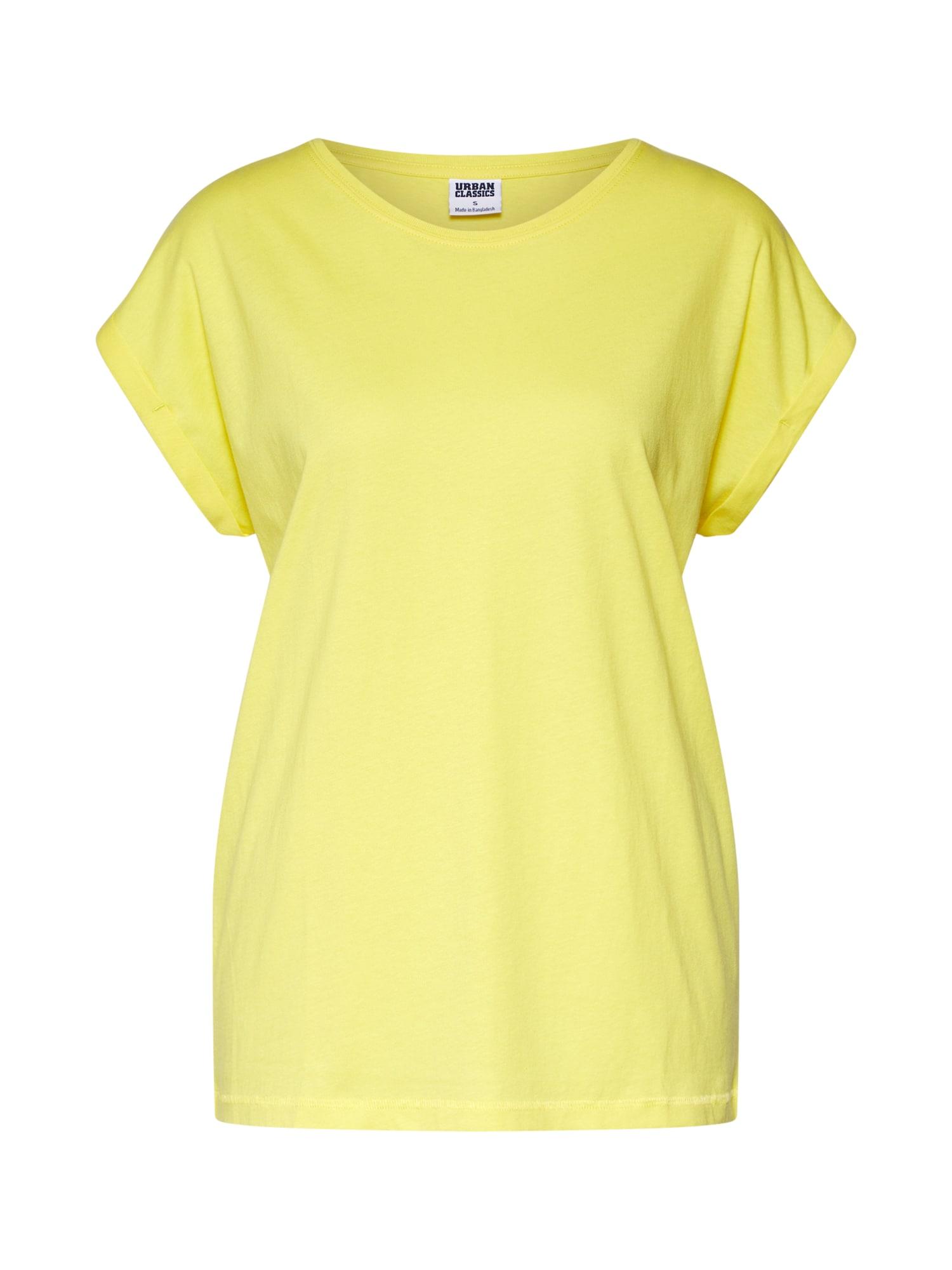 Tričko žlutá Urban Classics
