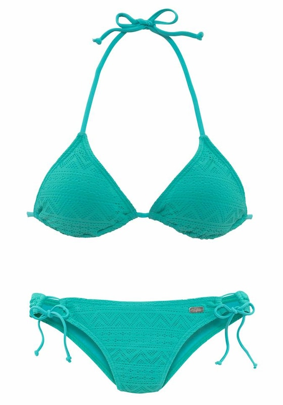 BUFFALO Triangel-Bikini in Häkeloptik jetztbilligerkaufen