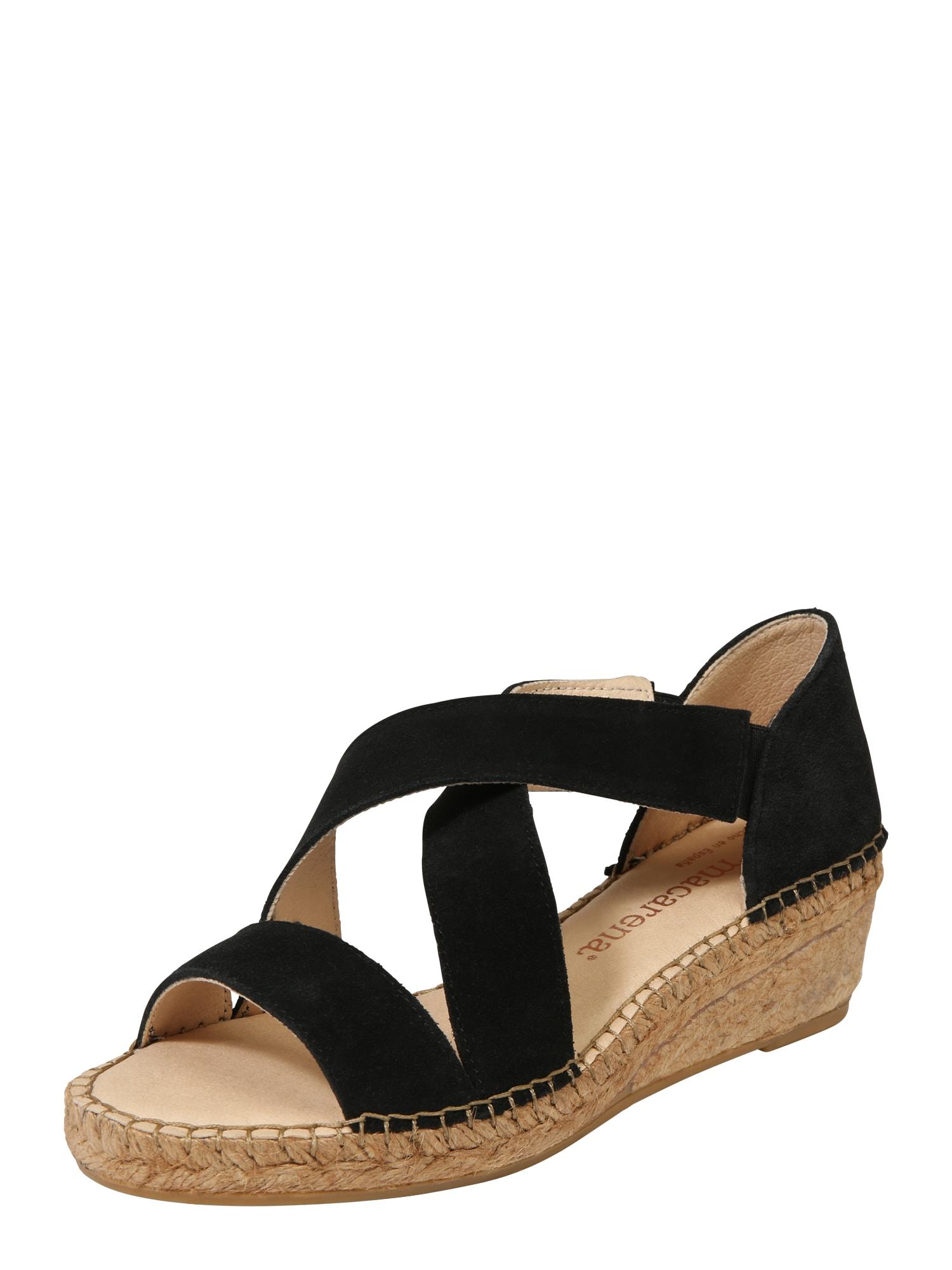 Páskové sandály LUNA 85 béžová černá MACARENA