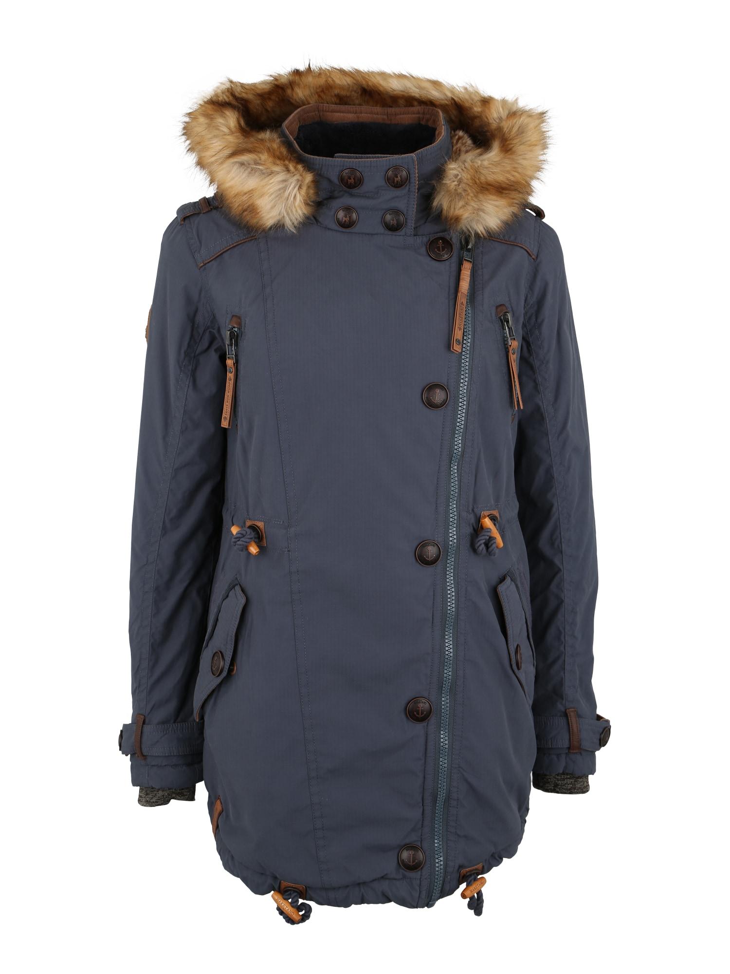 Zimní kabát Sissimuschi tmavě modrá Naketano