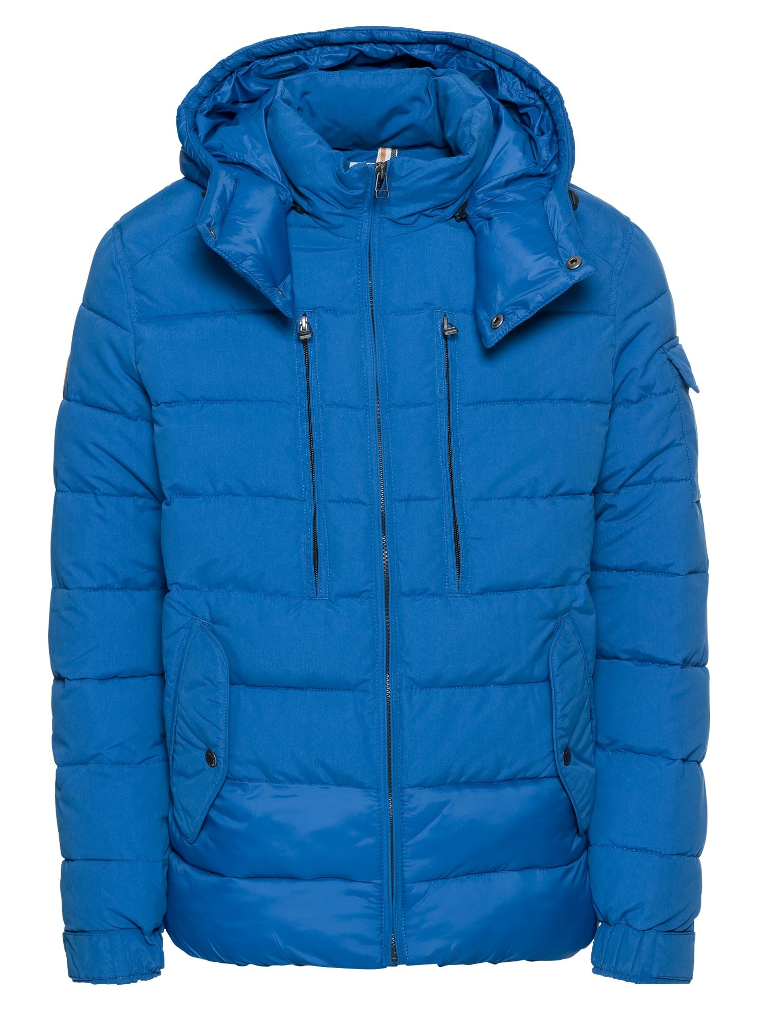 Zimní bunda JORLITE SHORT PUFFER JACKET modrá JACK & JONES
