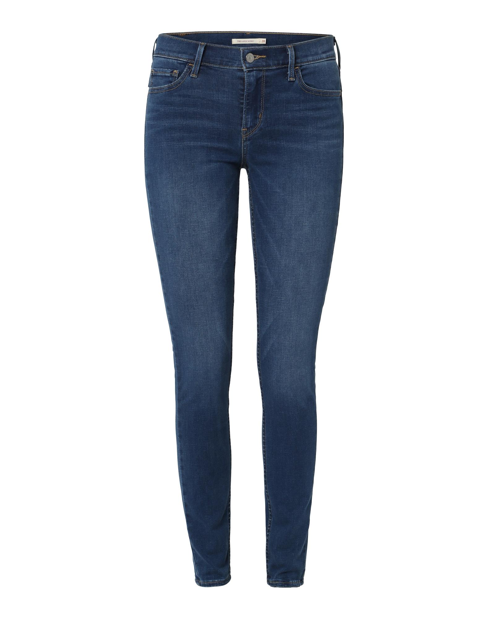 LEVI'S Dames Jeans 710 Innovation Super Skinny blauw