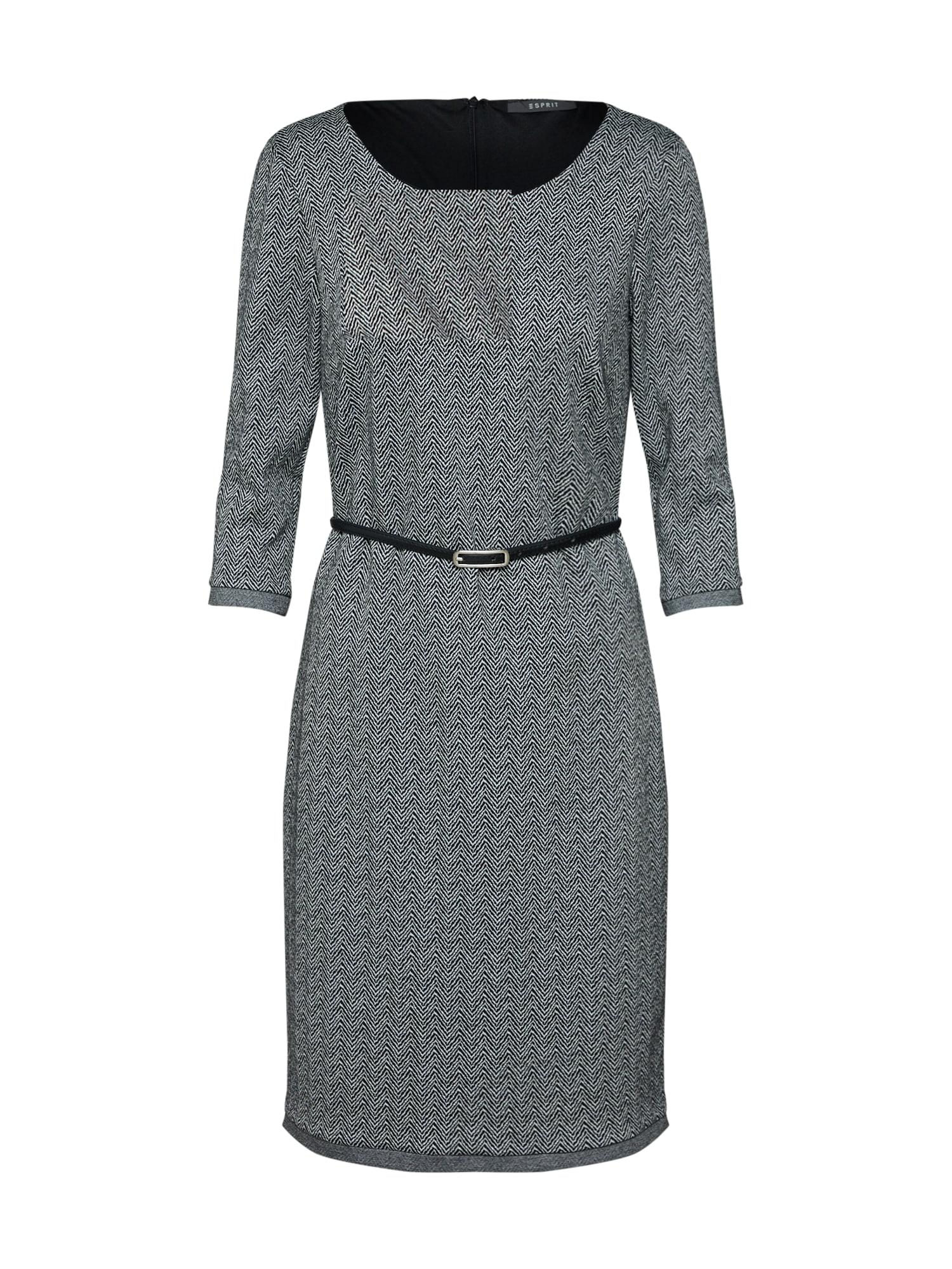 Pouzdrové šaty antracitová Esprit Collection