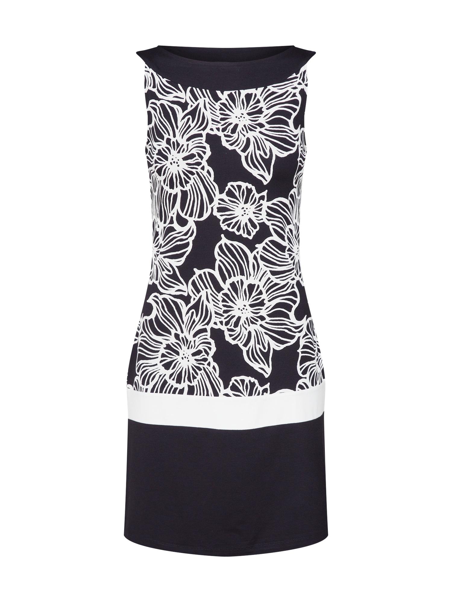 Pouzdrové šaty černá bílá S.Oliver BLACK LABEL