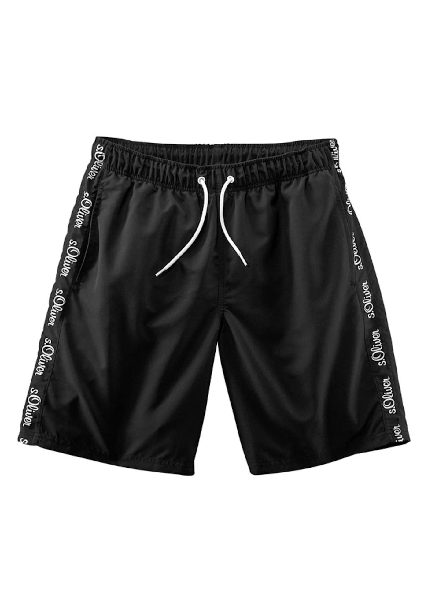 Plavecké šortky černá S.Oliver RED LABEL