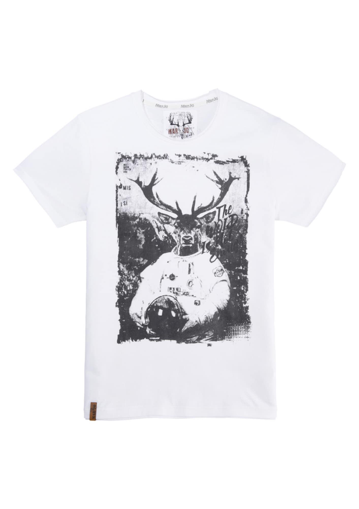 MARJO Tričko  černá / bílá