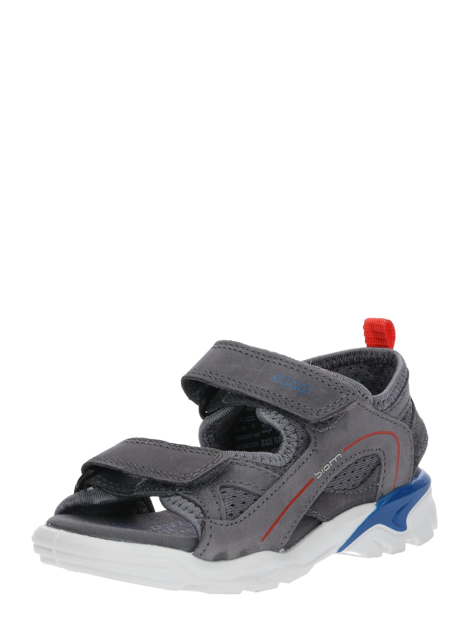 Sandály tmavě šedá červená ECCO