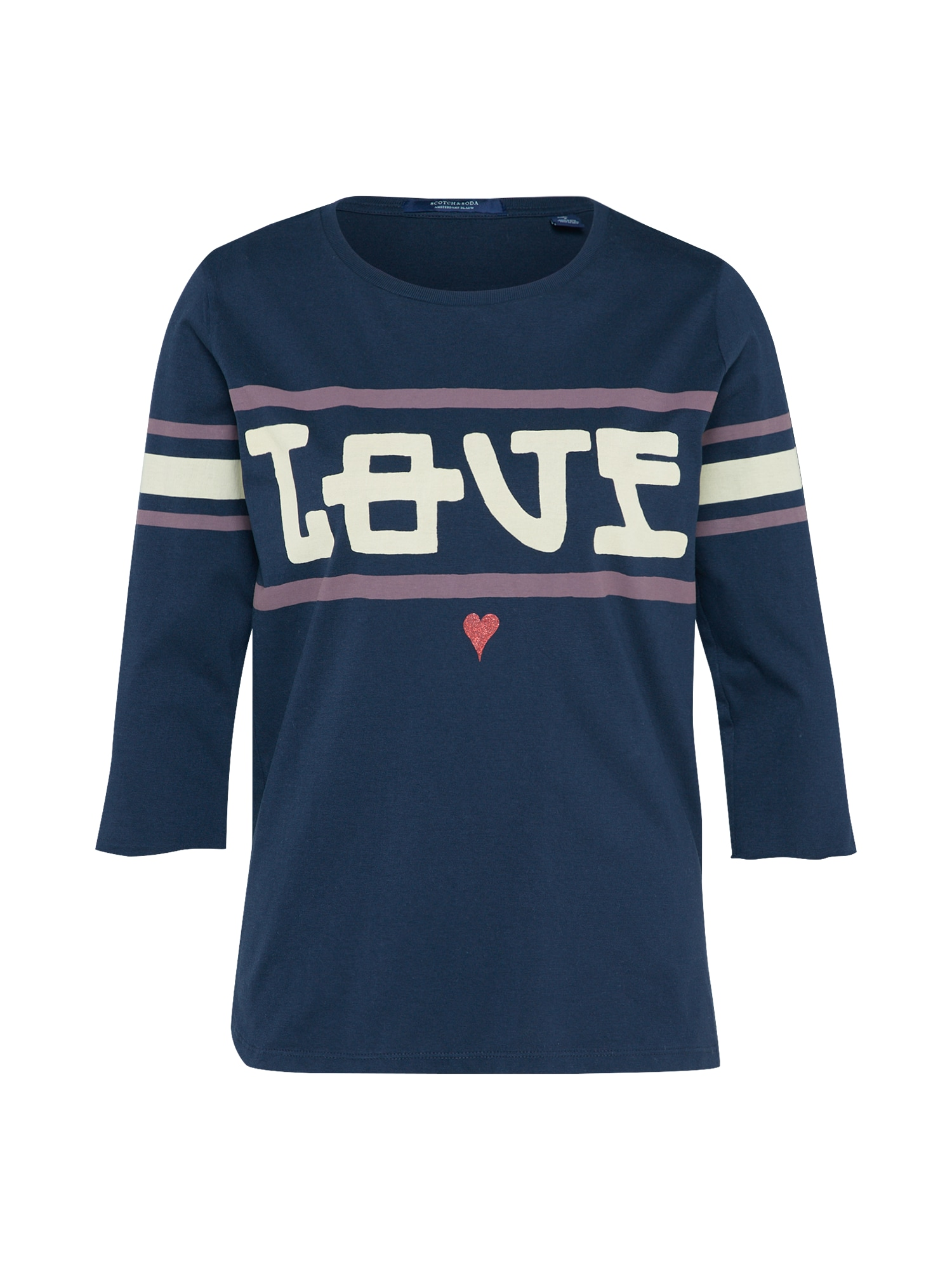 SCOTCH  and  SODA Dames Shirt Sporty Tee navy