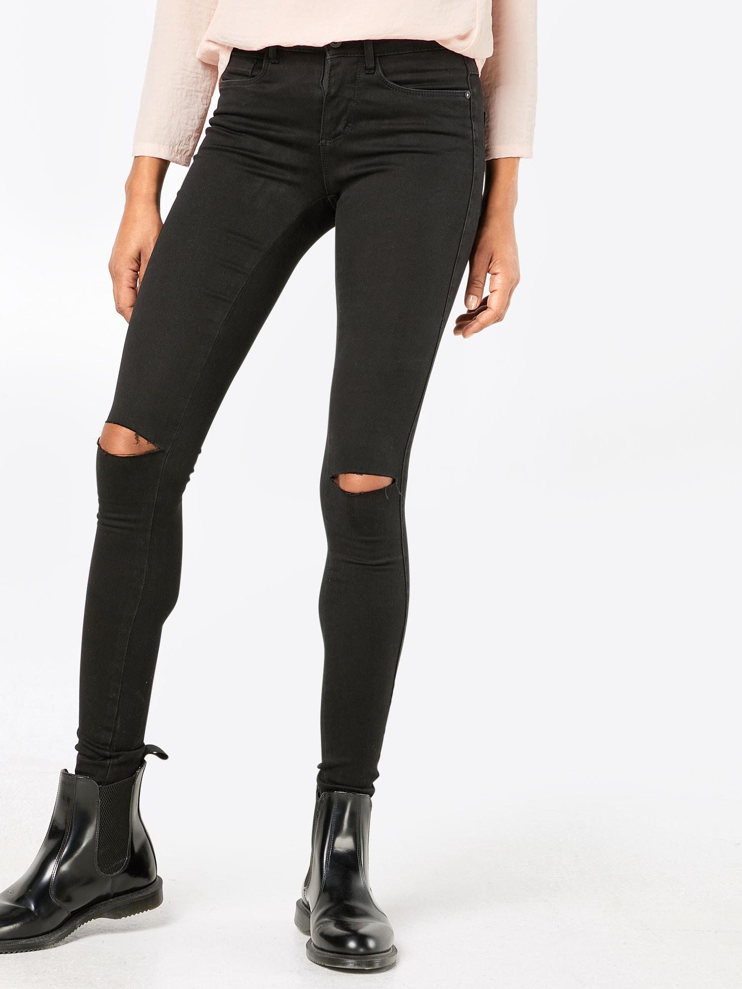 ONLY, Dames Jeans, zwart