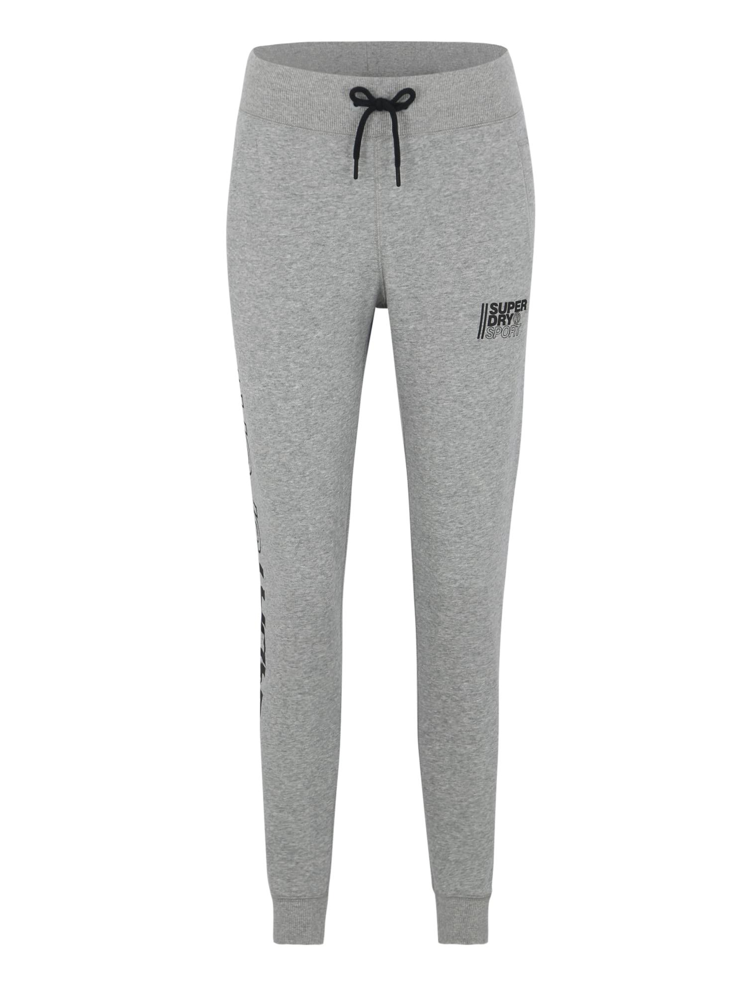 Sportovní kalhoty Core Sport Joggers šedá Superdry
