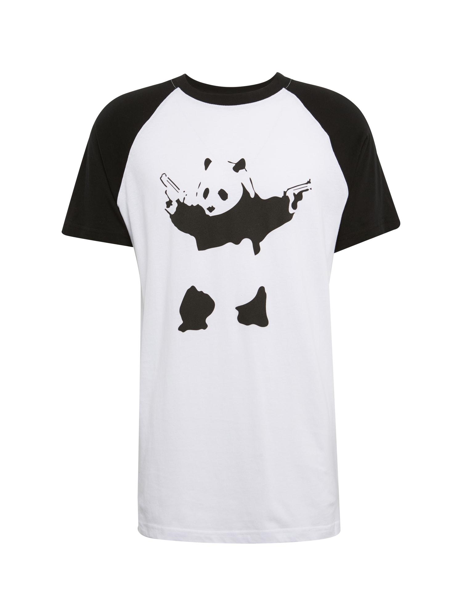 Tričko Banksy Panda černá bílá Mister Tee