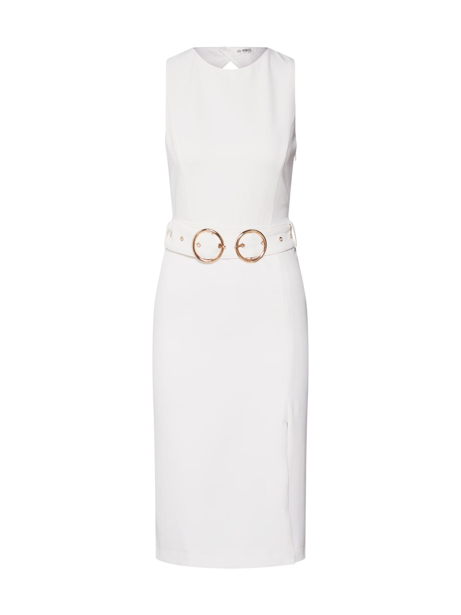 Pouzdrové šaty Nikita zlatá bílá 4th & Reckless
