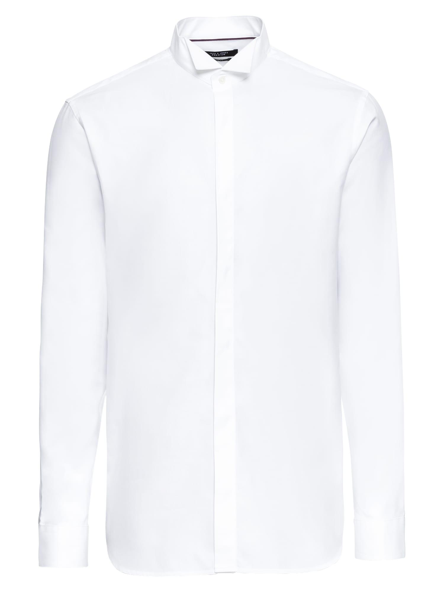 Košile JPRMORGAN TUX SHIRT LS  bílá JACK & JONES