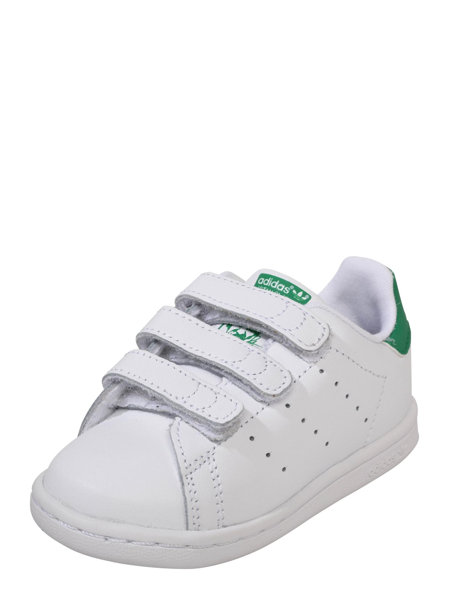 Tenisky STAN SMITH CF I zelená bílá ADIDAS ORIGINALS
