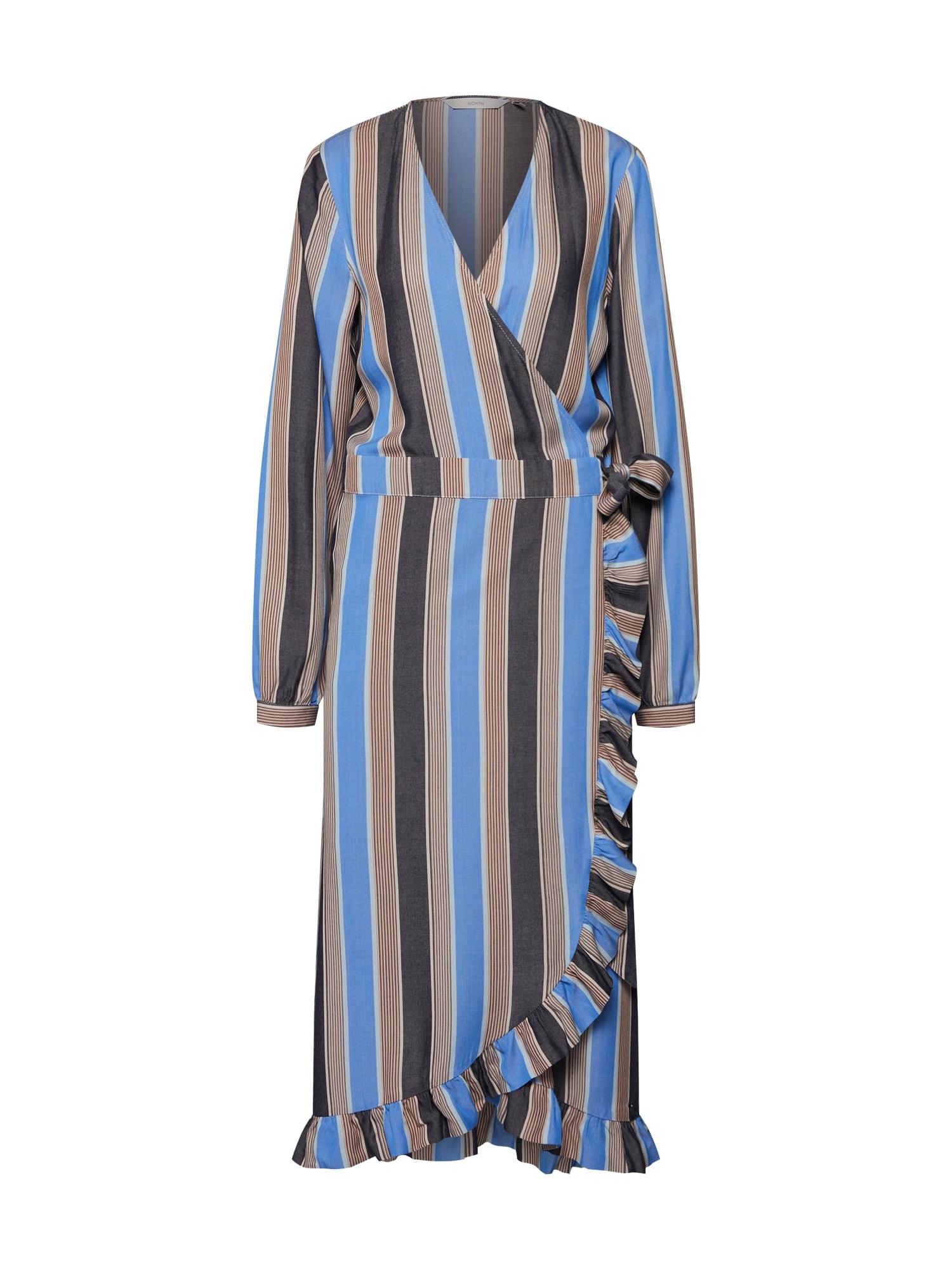 Šaty Jemima modrá hnědá NÜMPH