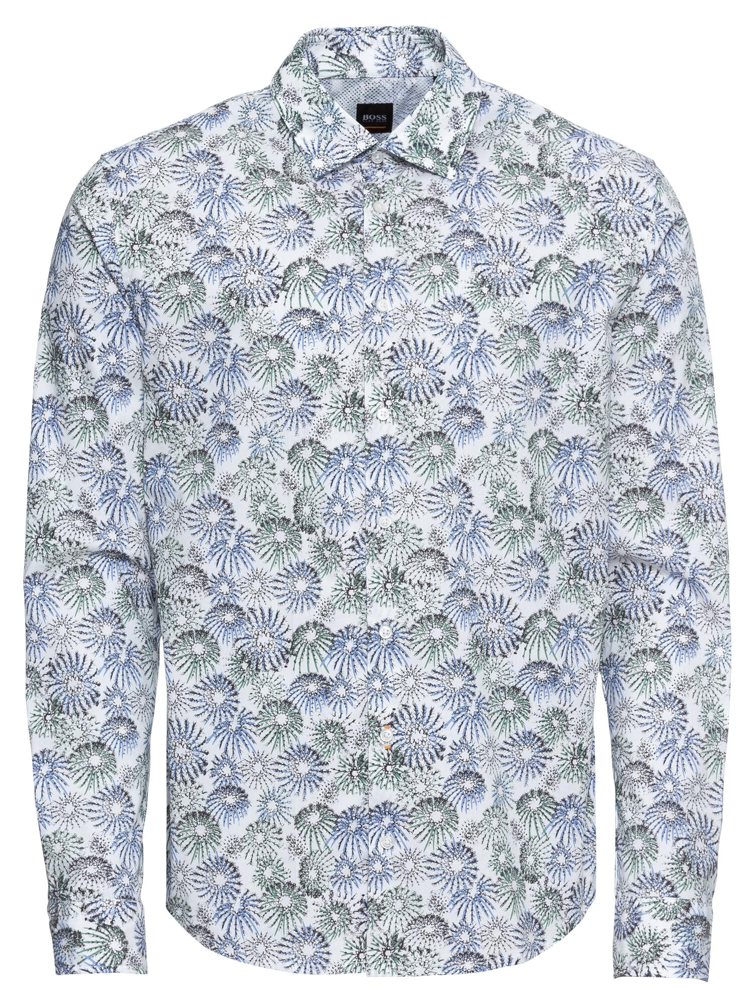 Košile Mypop_1 10214140 01 modrá bílá BOSS