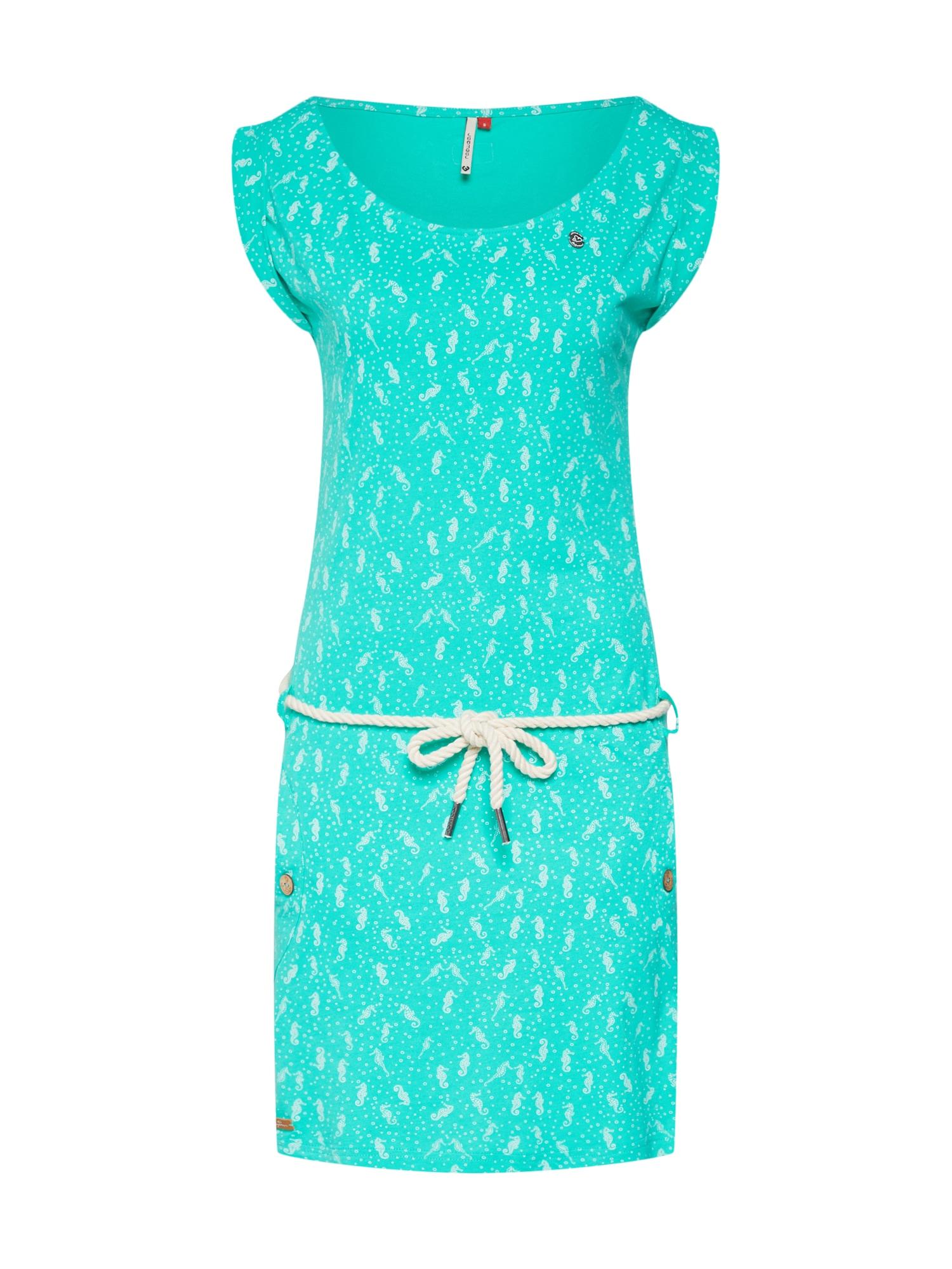 Letní šaty TAGALI tyrkysová světle hnědá bílá Ragwear