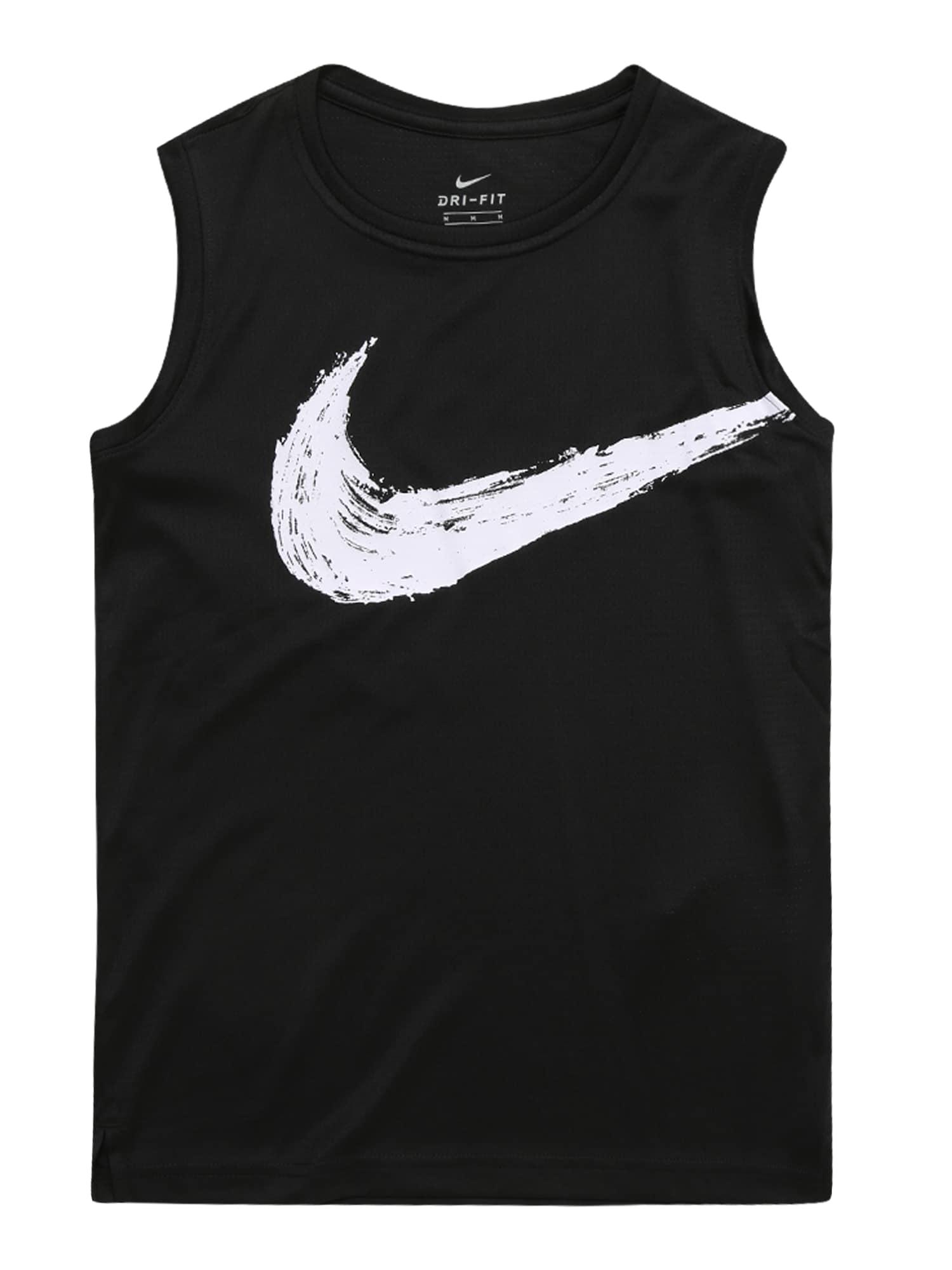 Funkční tričko B NK DRY TOP SL černá bílá NIKE