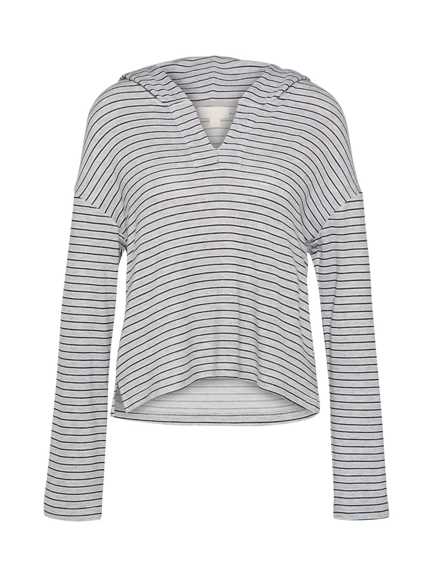 Tričko na spaní SLOUNGE šedá černá GAP