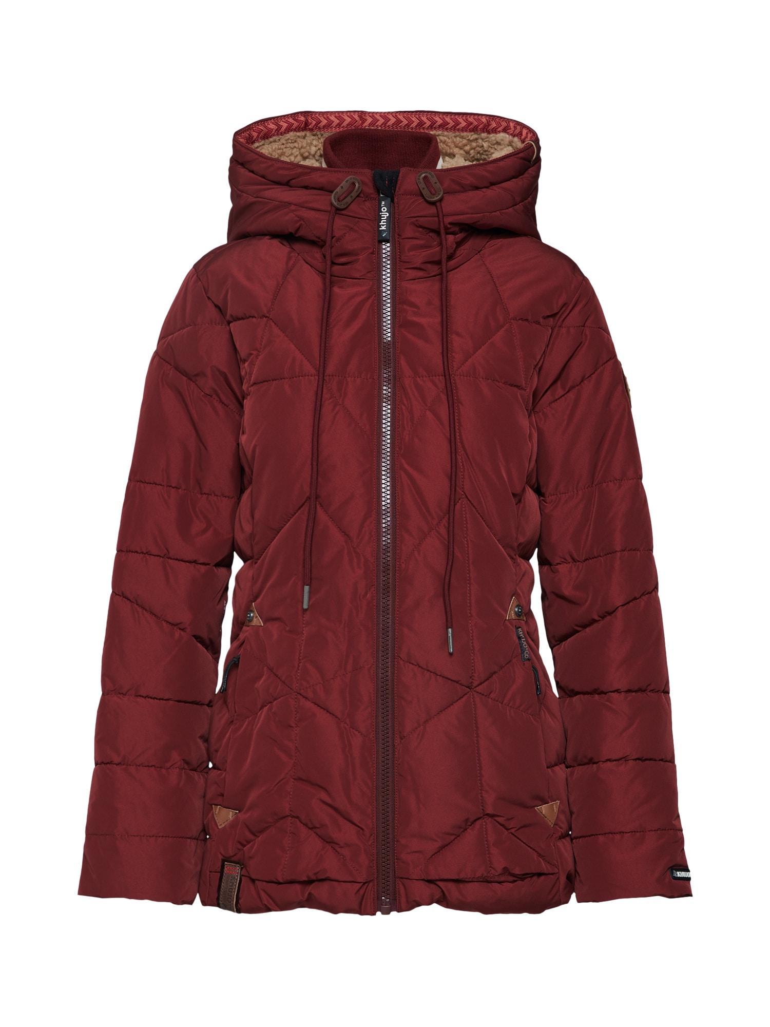 Zimní bunda ELENORA bordó Khujo