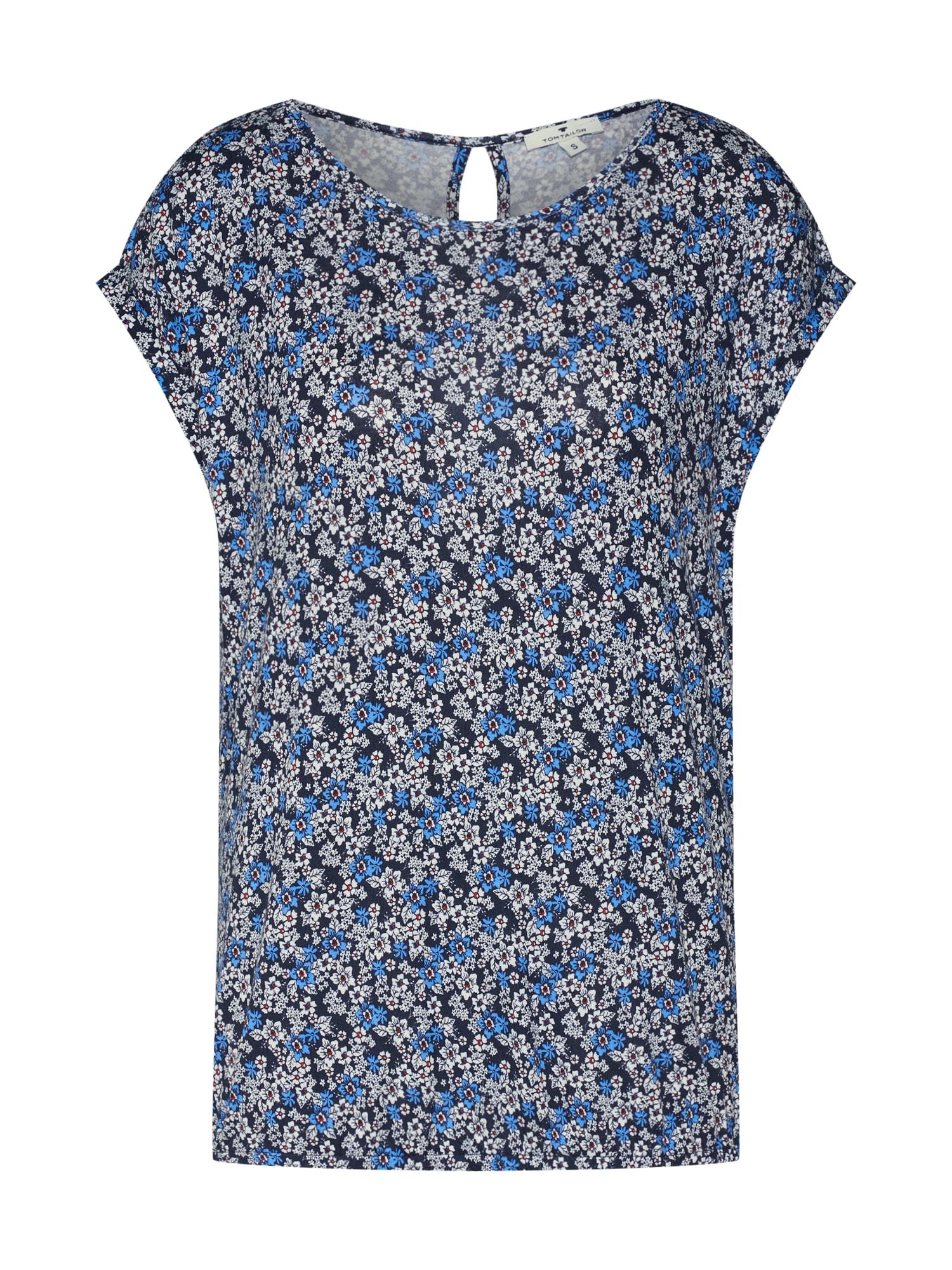 Tričko tmavě modrá mix barev TOM TAILOR