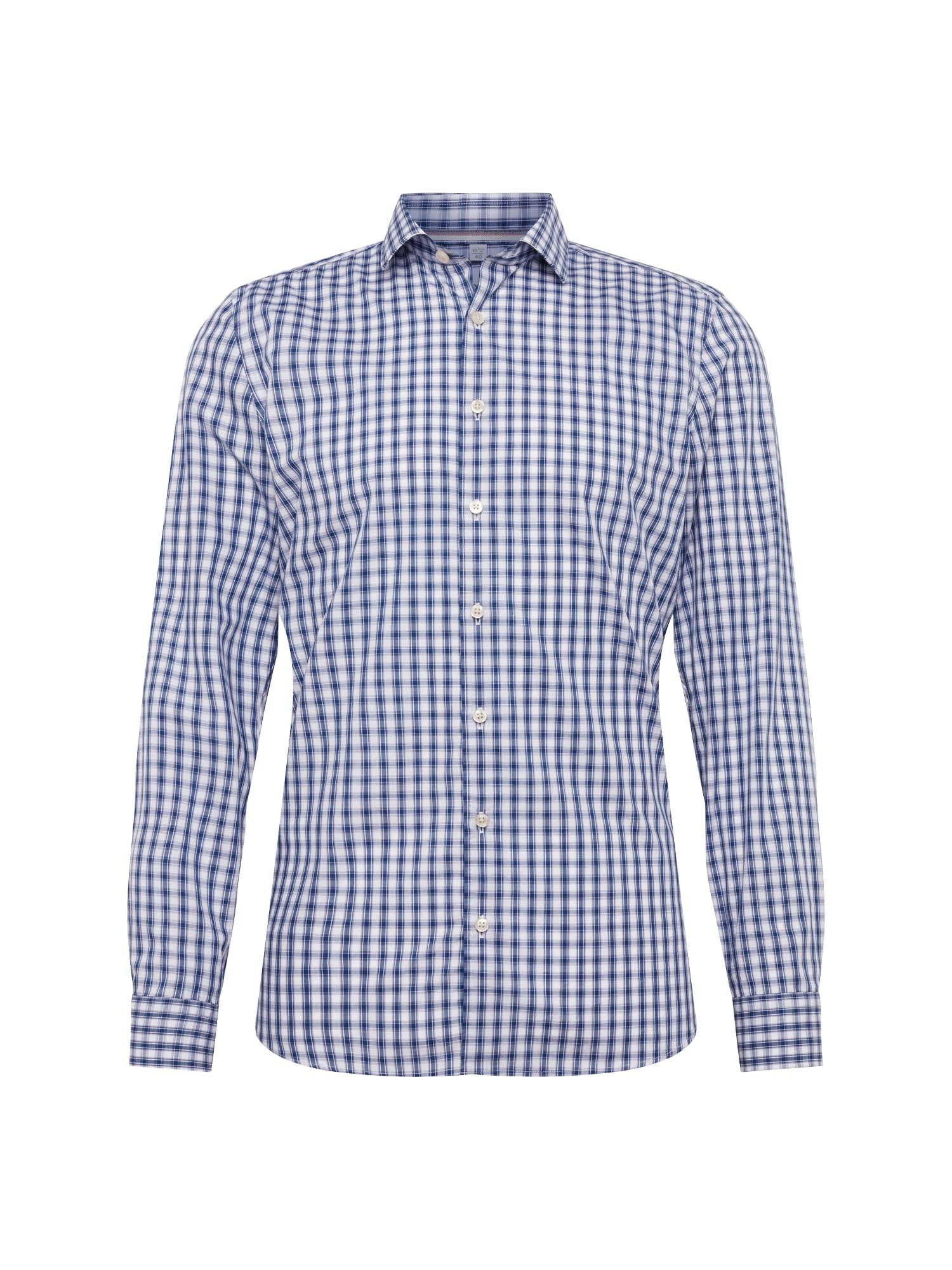 Košile Level 5 Smart Business Check modrá bílá OLYMP