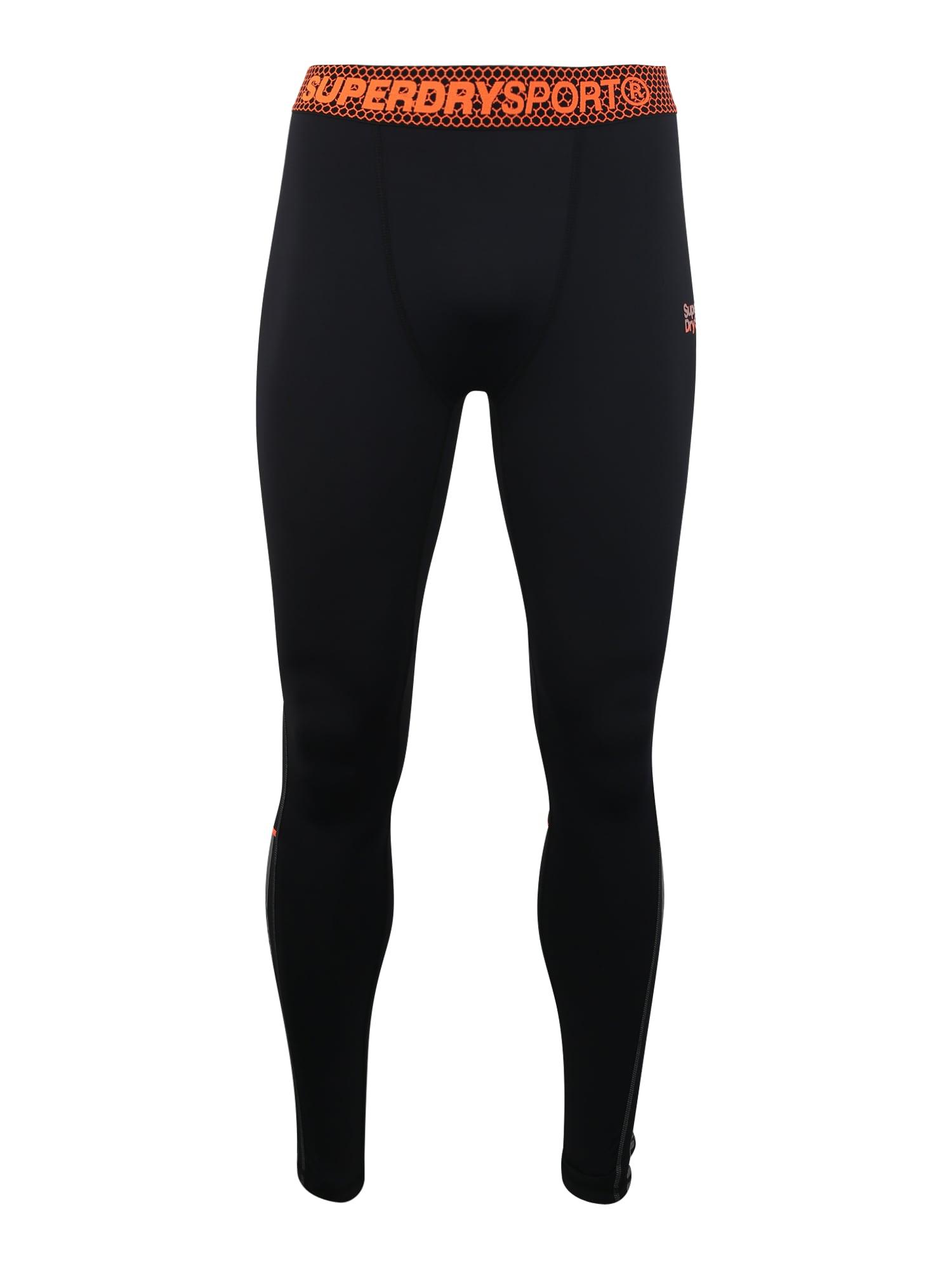 Sportovní kalhoty ACTIVE LEGGING oranžová černá Superdry