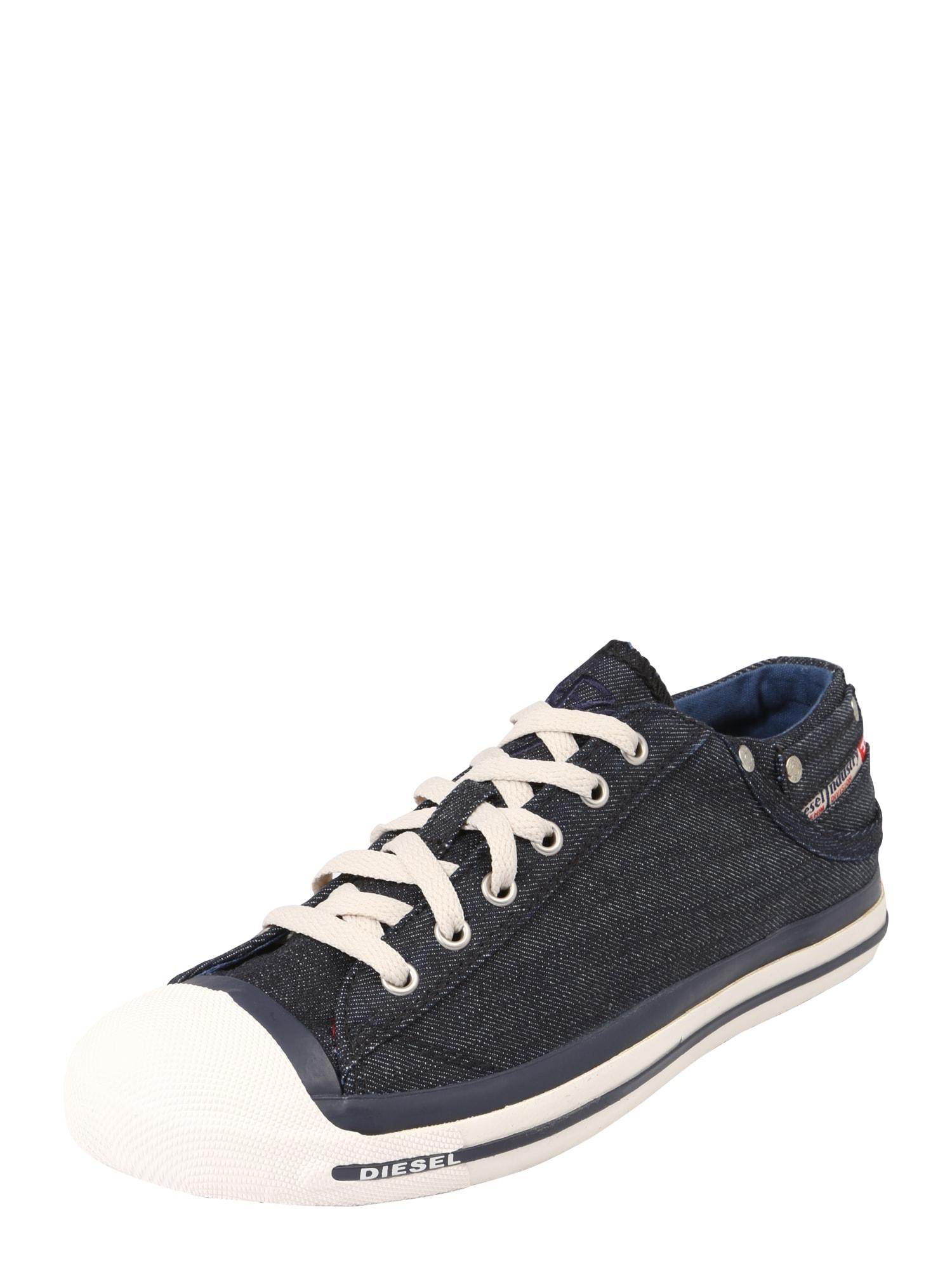 DIESEL Heren Sneakers laag EXPOSURE navy donkerblauw