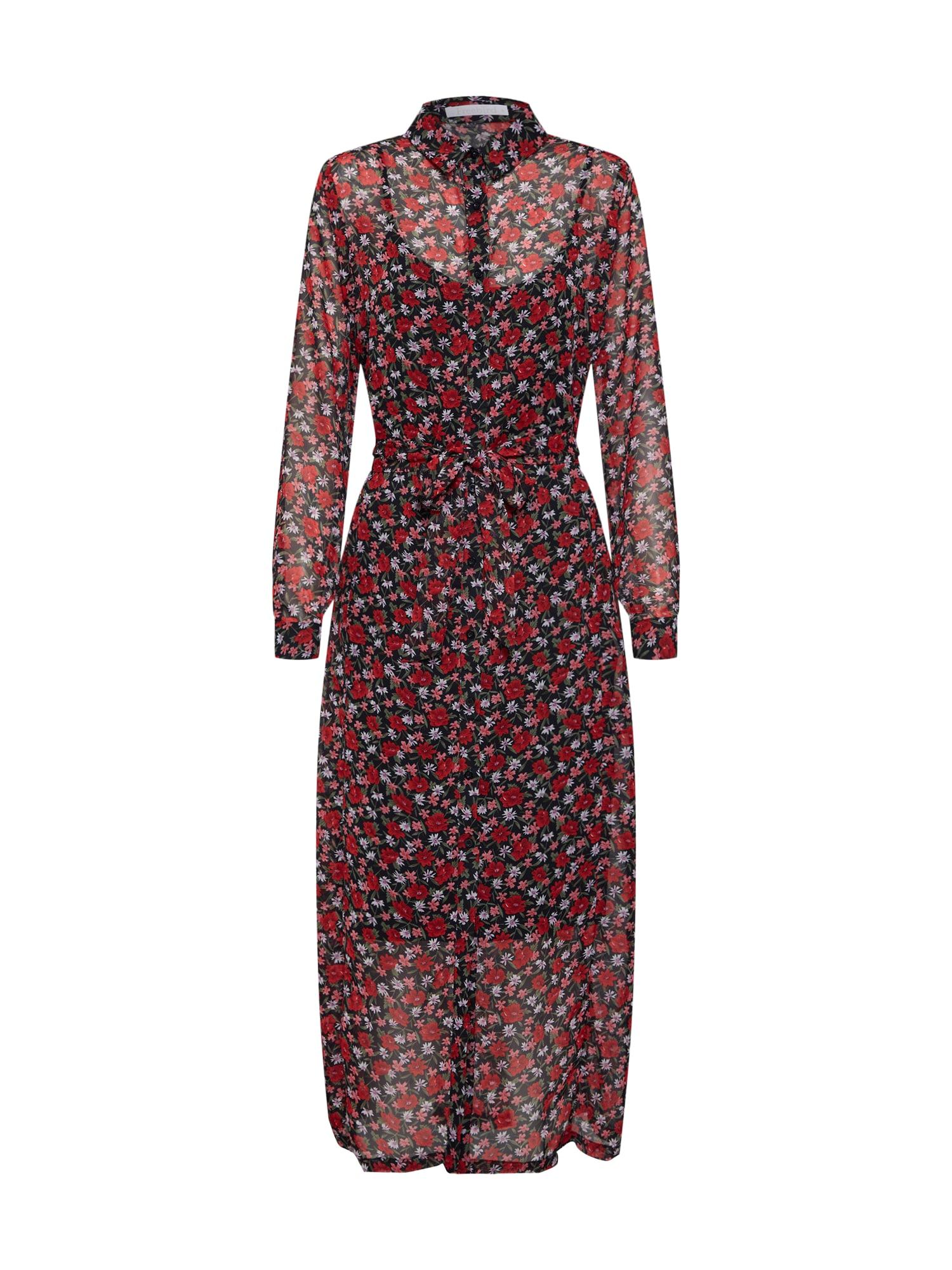 Šaty mix barev červená černá Freebird