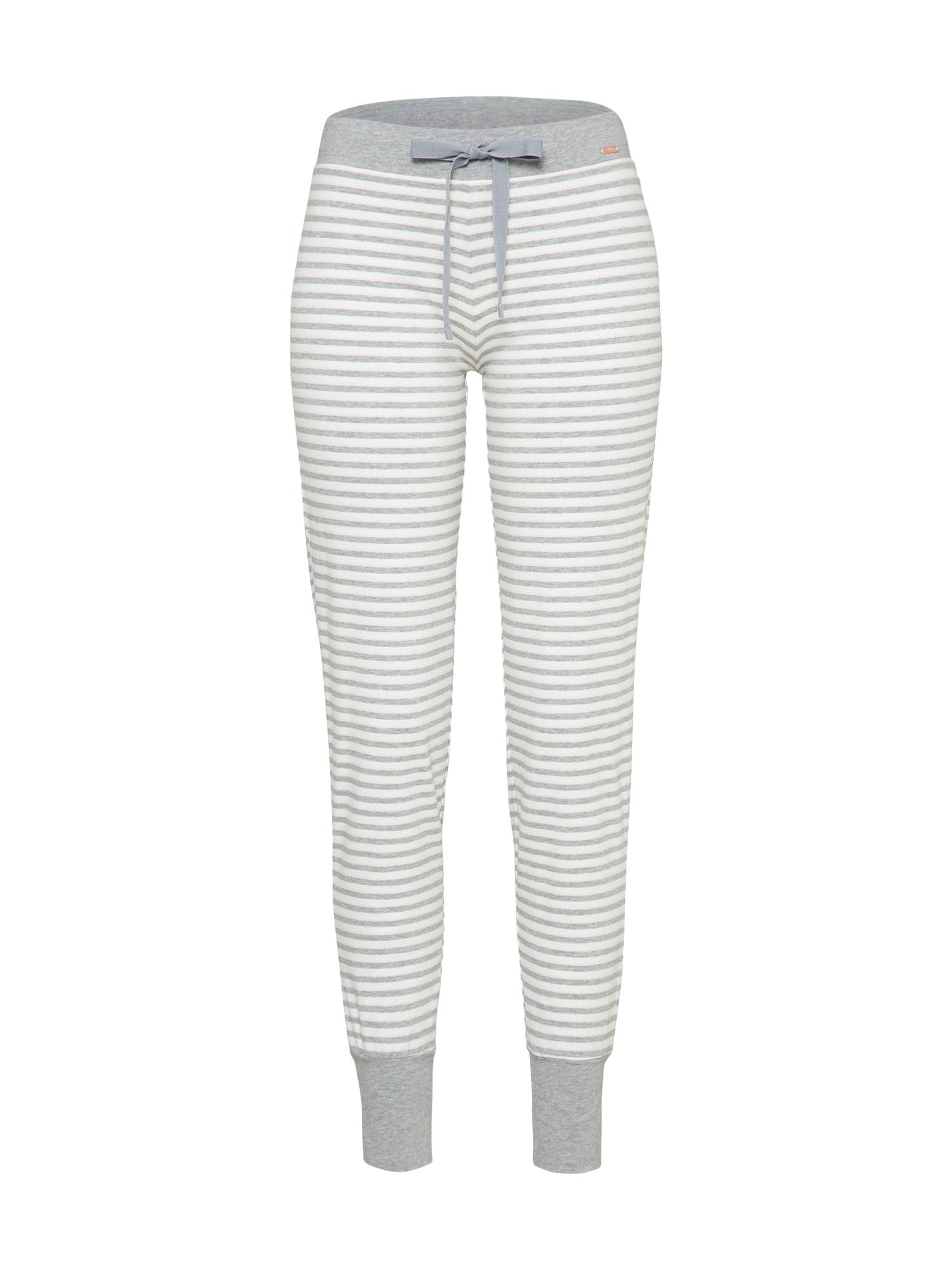 Pyžamové kalhoty šedá bílá Skiny