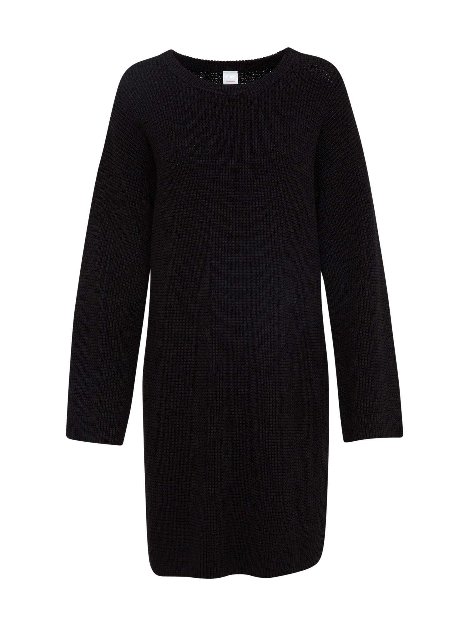 Úpletové šaty Itarisa černá BOSS