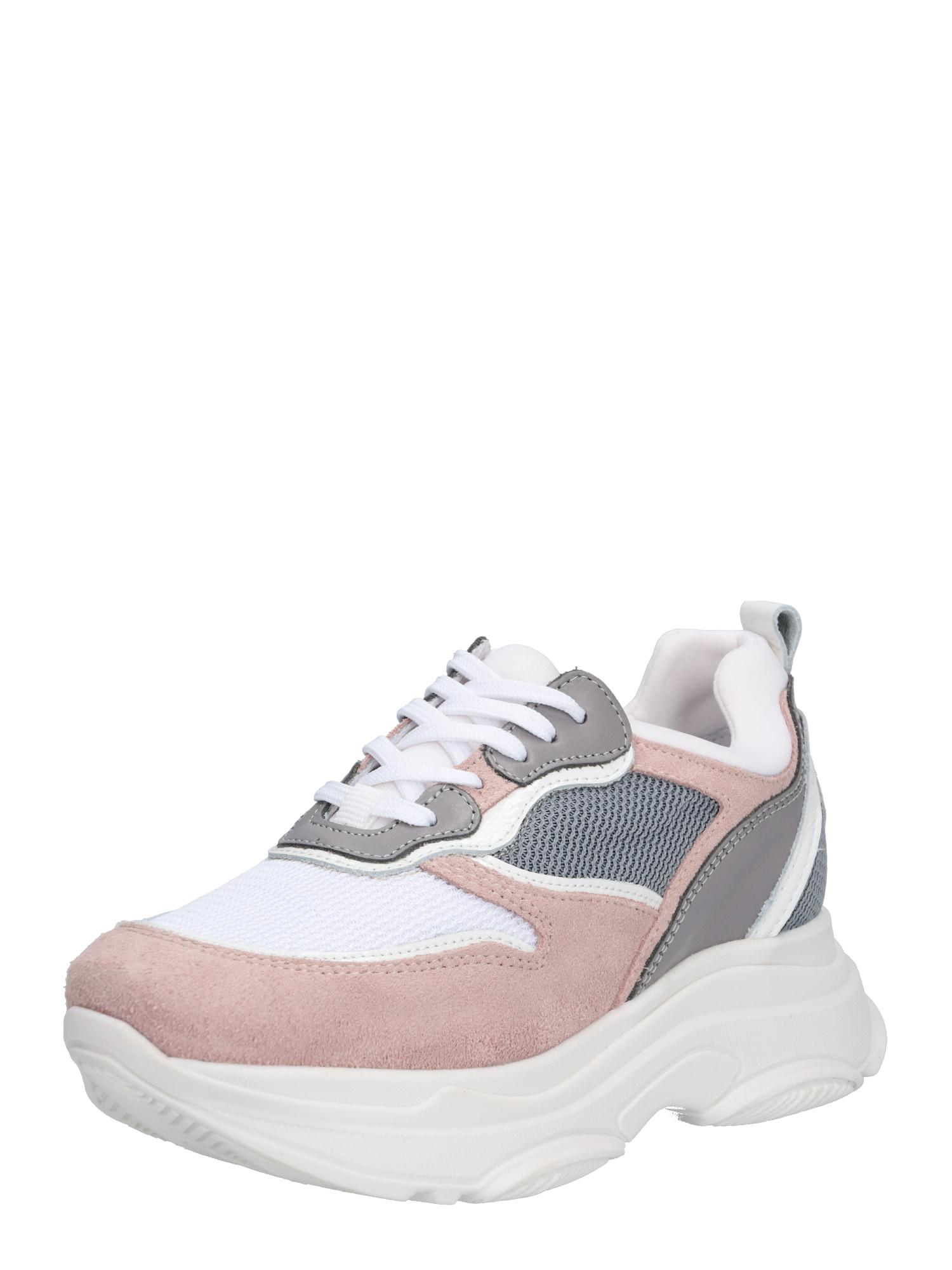 Tenisky tělová šedá růžová bílá PS Poelman