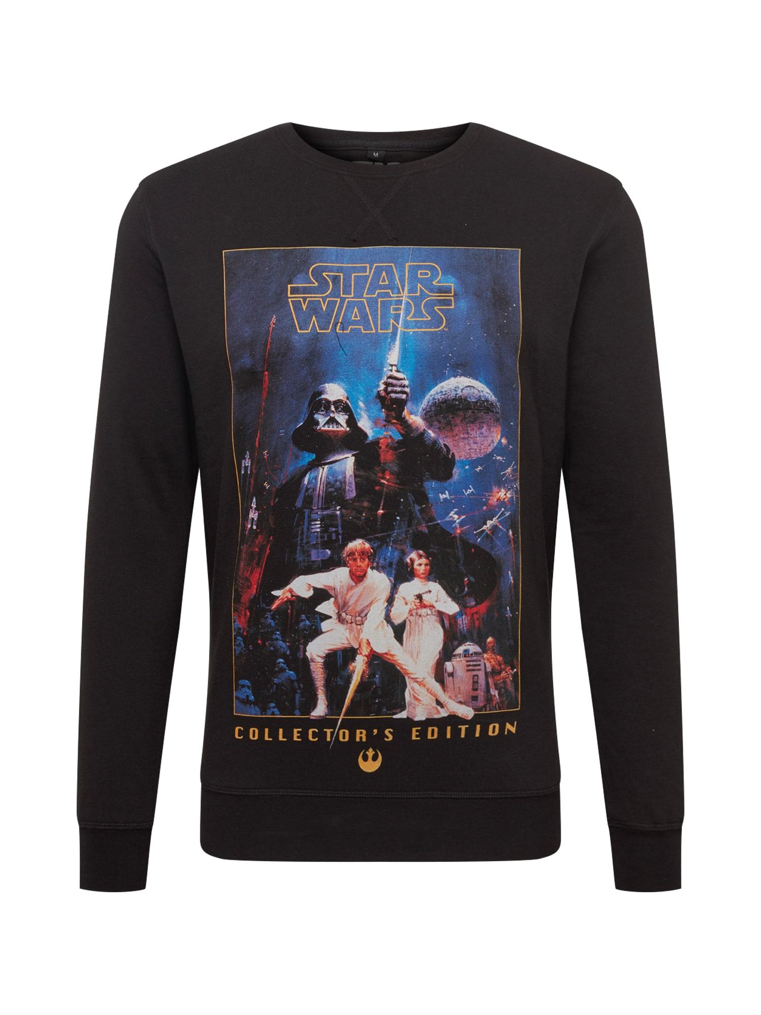 Tričko Star Wars Poster Collectors Edition Crewneck modrá černá Mister Tee