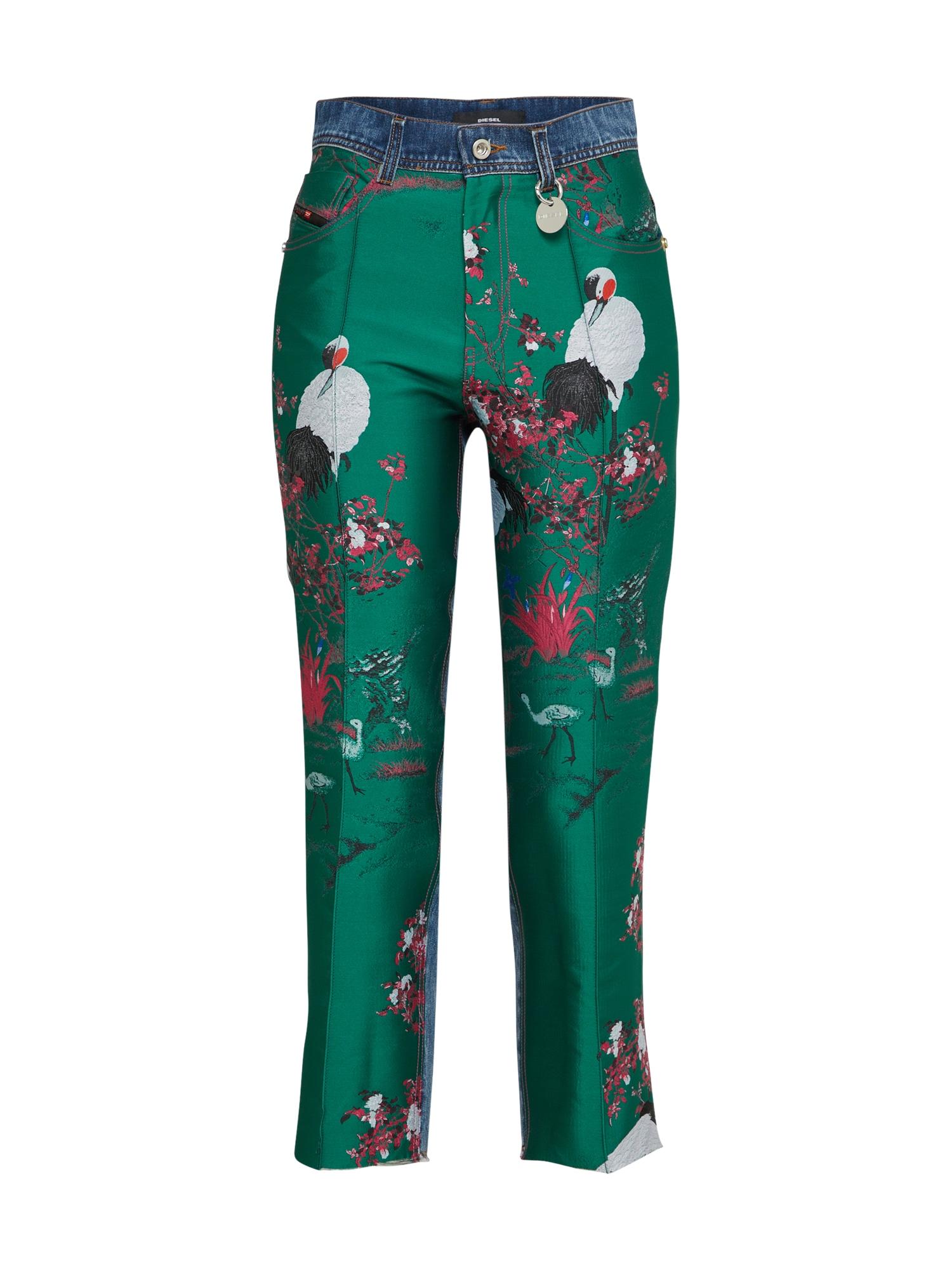Kalhoty modrá džínovina zelená světle červená bílá DIESEL
