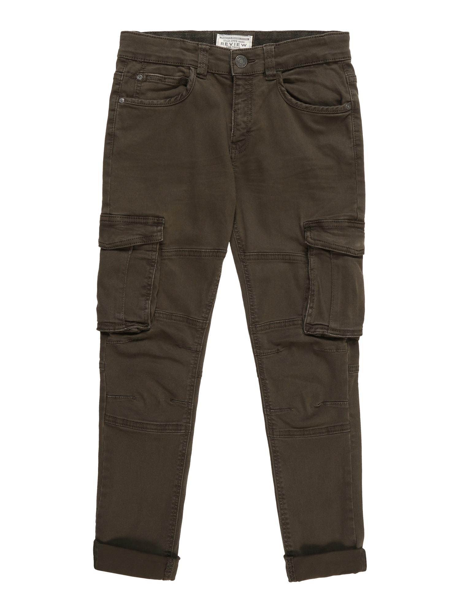 Kalhoty zelená olivová REVIEW FOR TEENS