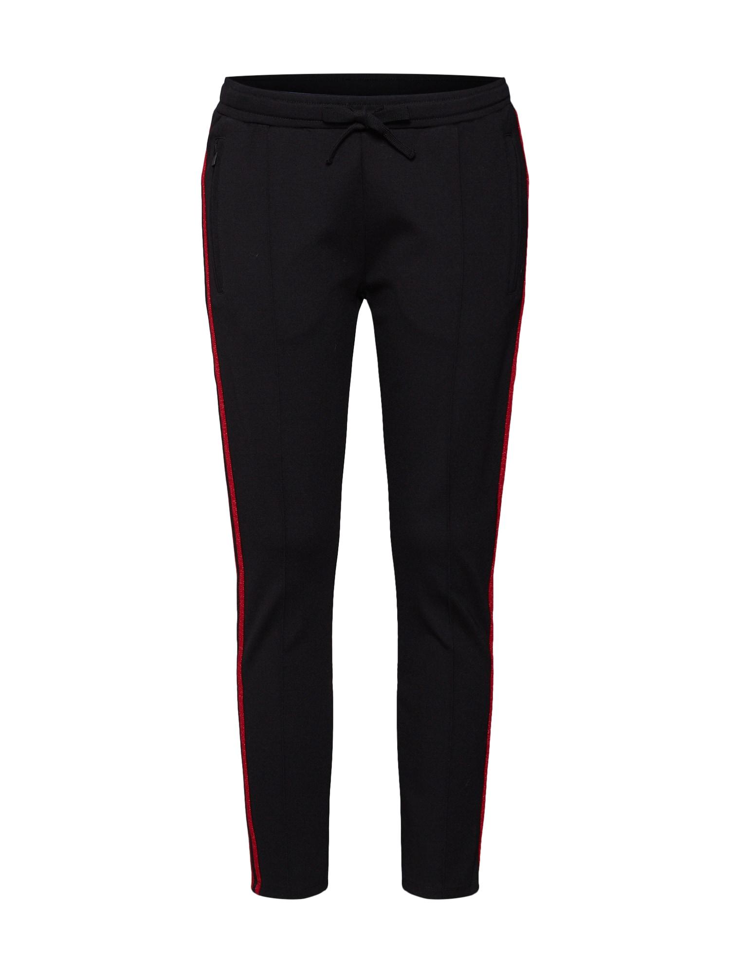Kalhoty s puky červená černá 10Days
