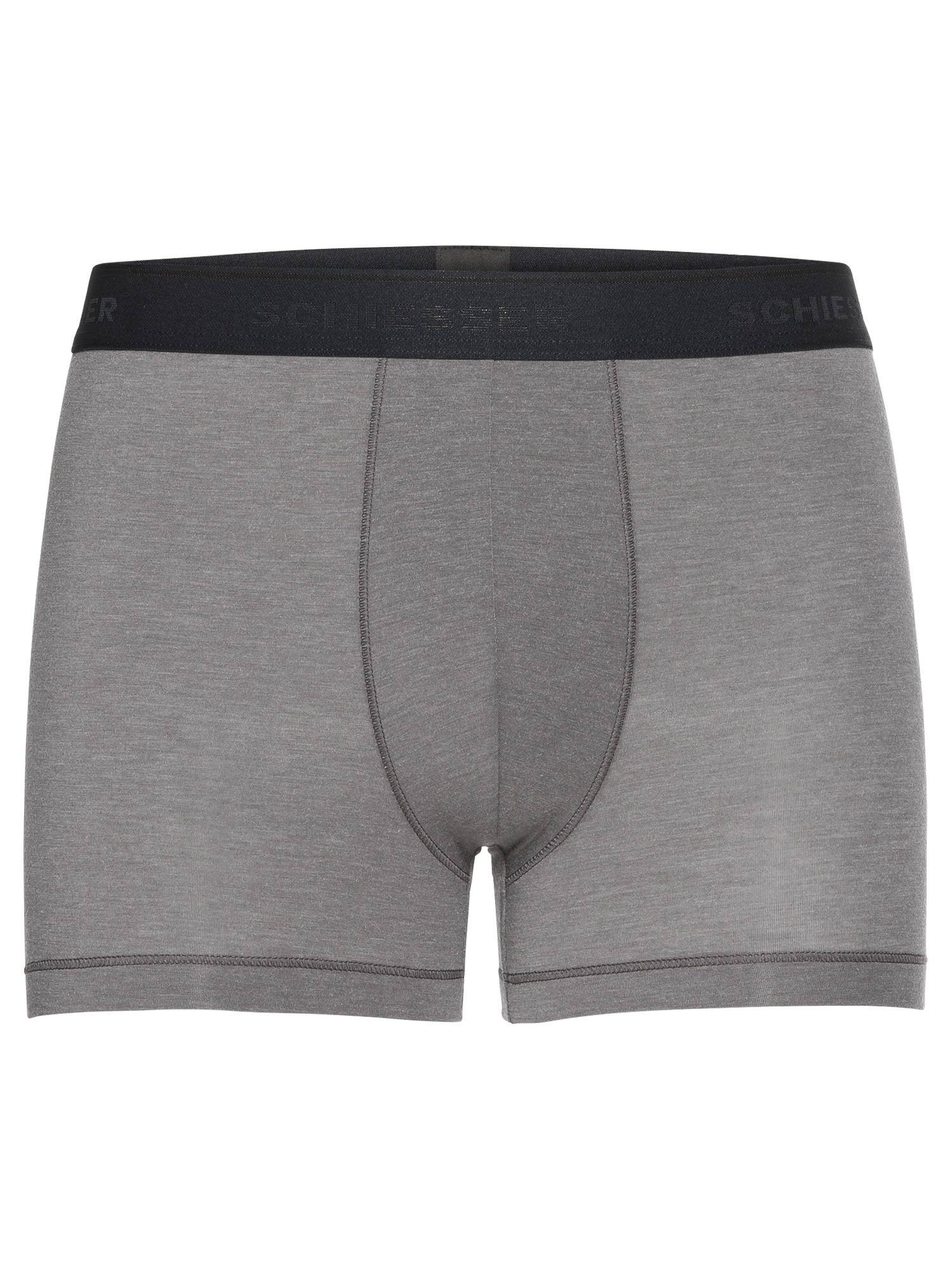 Boxerky Shorts tmavě šedá černá SCHIESSER