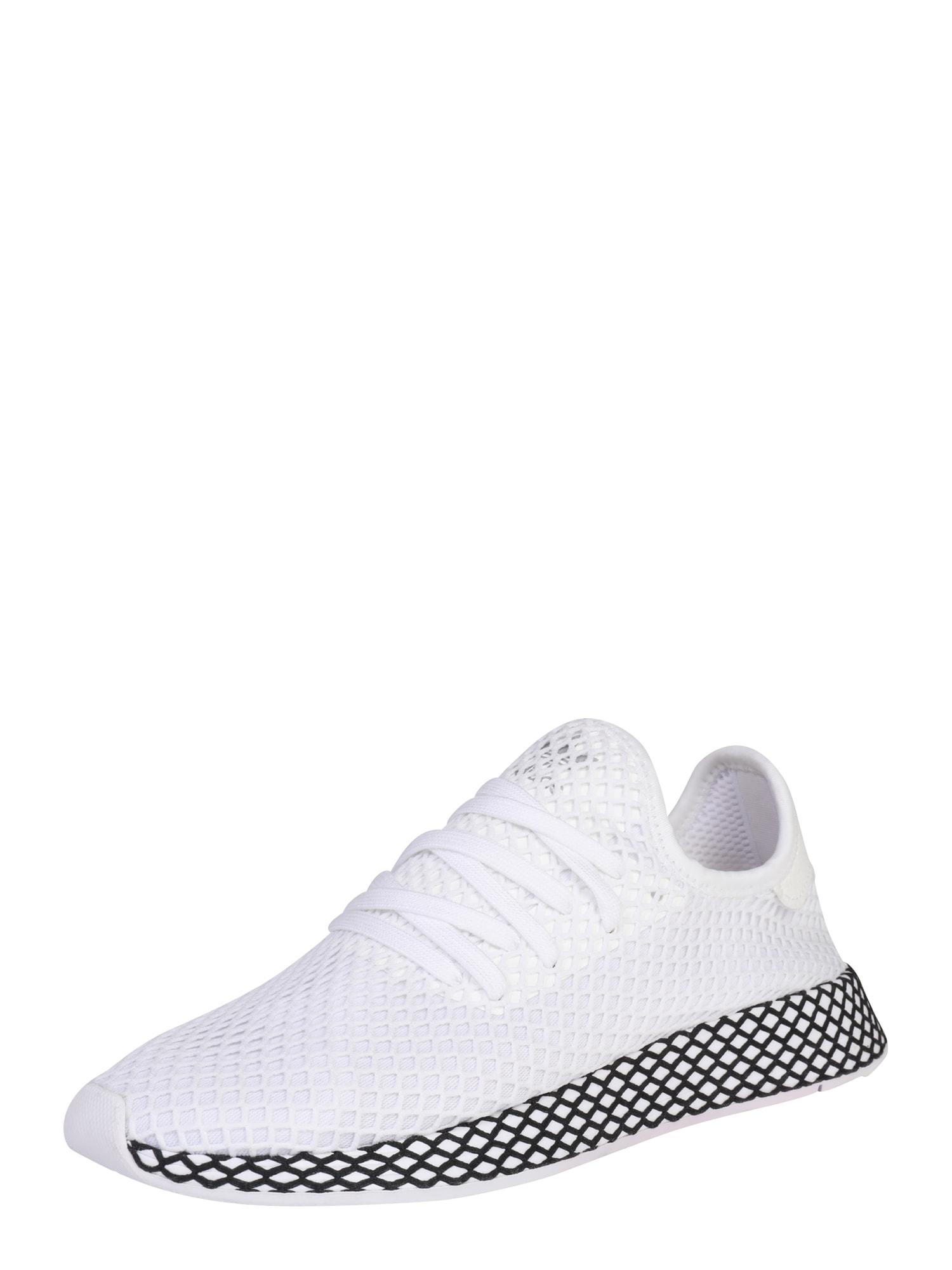 ADIDAS ORIGINALS, Heren Sneakers laag 'DEERUPT RUNNER', zwart / wit
