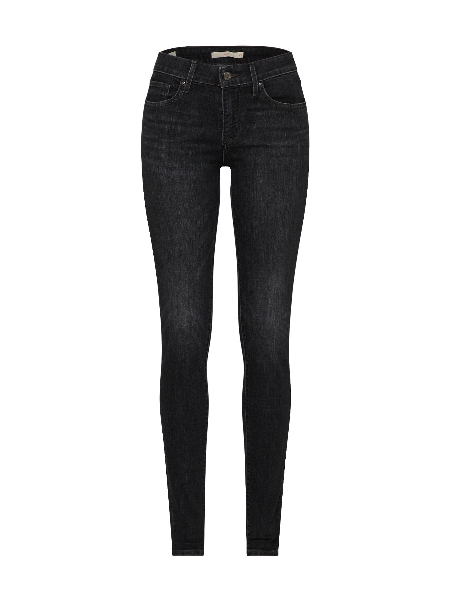 LEVI'S Dames Jeans 711 black denim