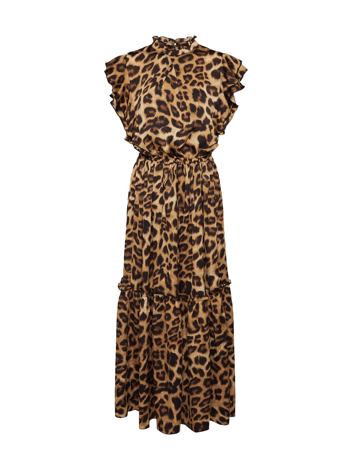Šaty hnědá černá Sofie Schnoor