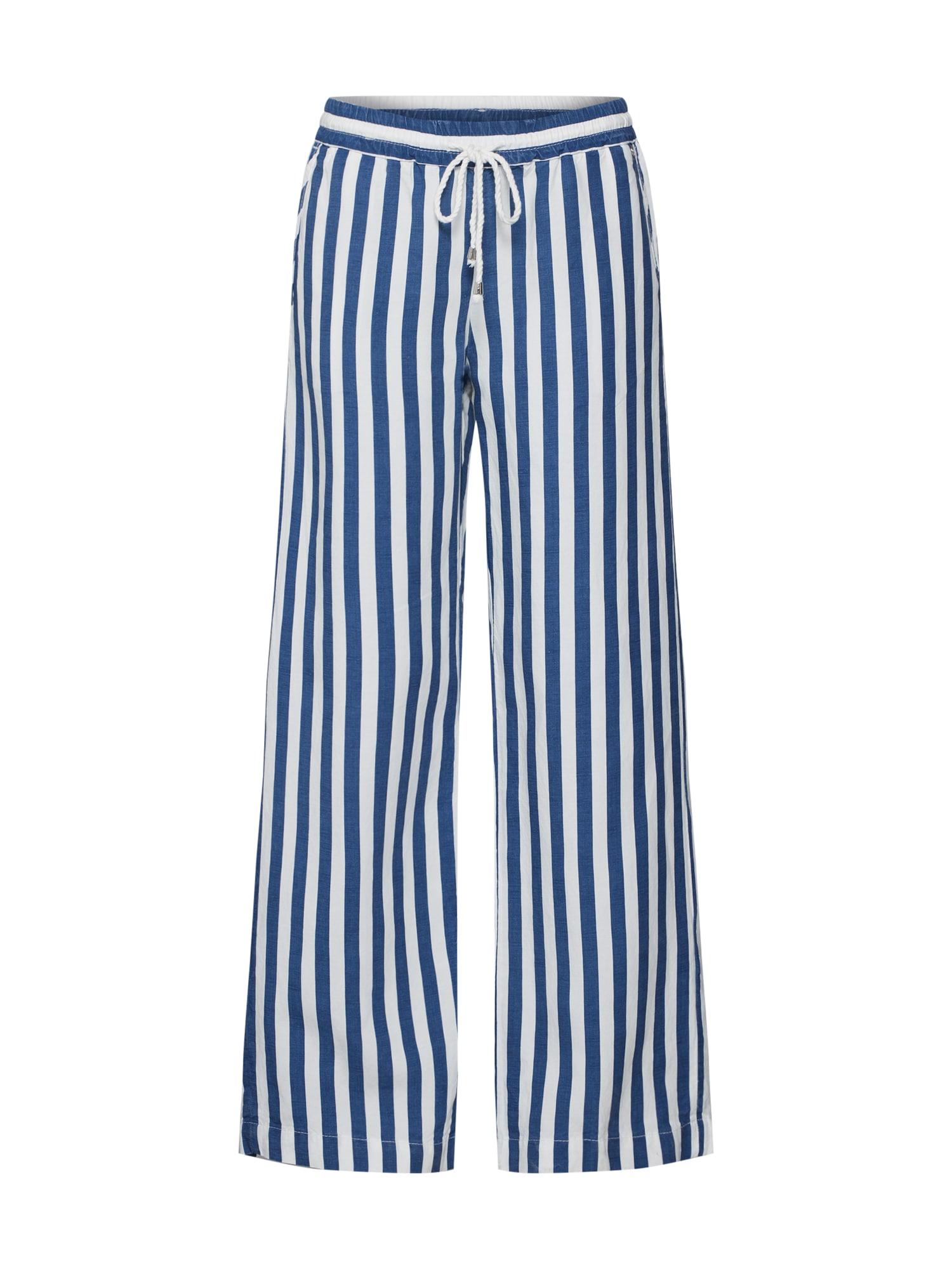 Krojové kalhoty modrá bílá Rich & Royal