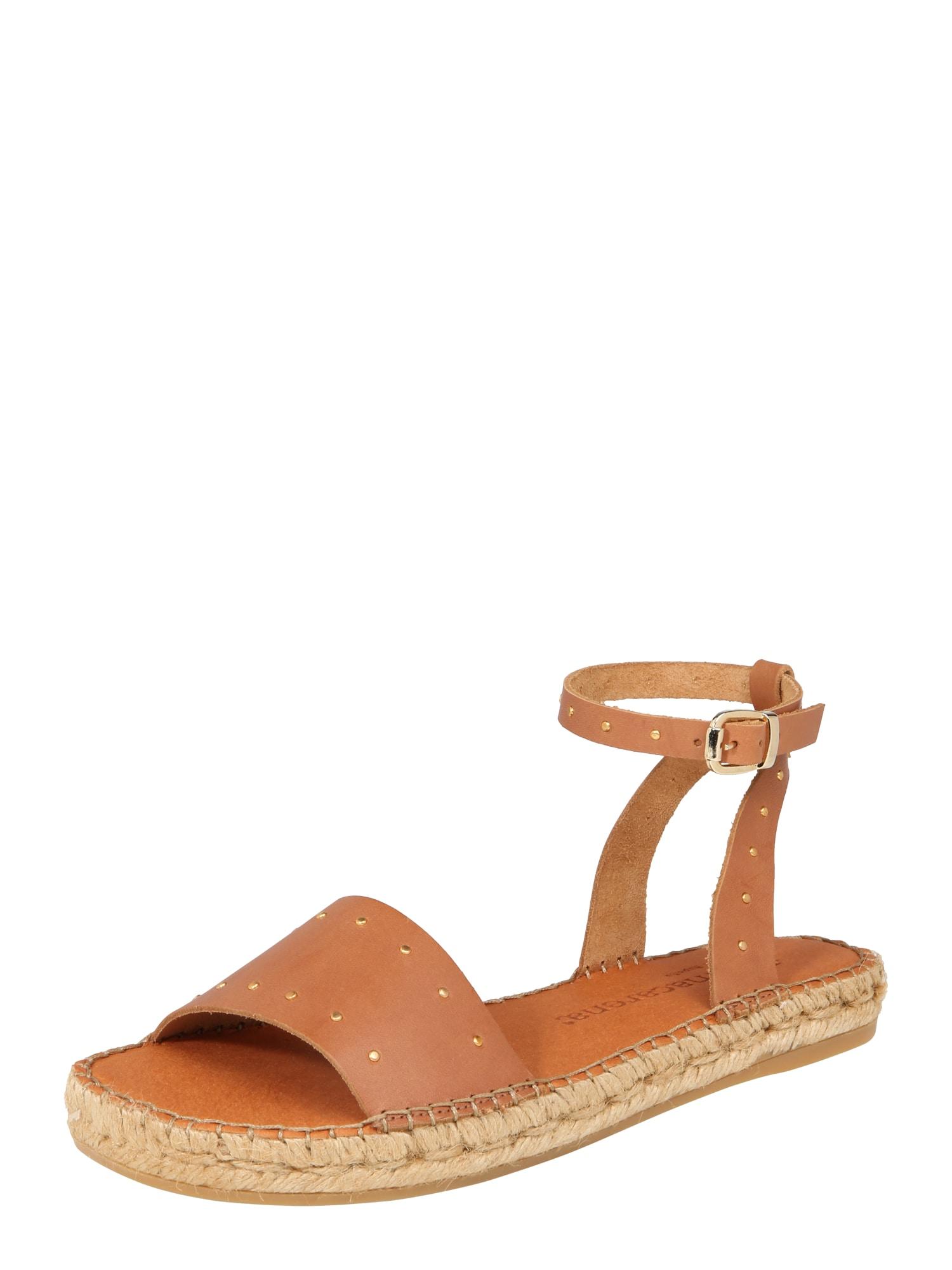 Páskové sandály Nika 16 koňaková MACARENA