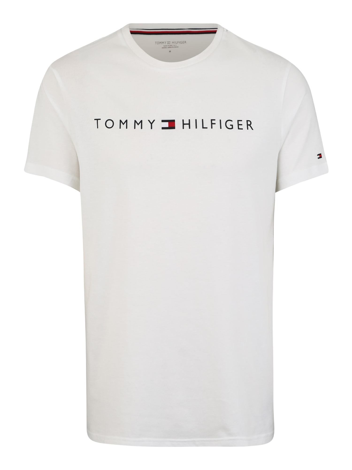 Pyžamo krátké CN SS TEE LOGO FLAG bílá Tommy Hilfiger Underwear
