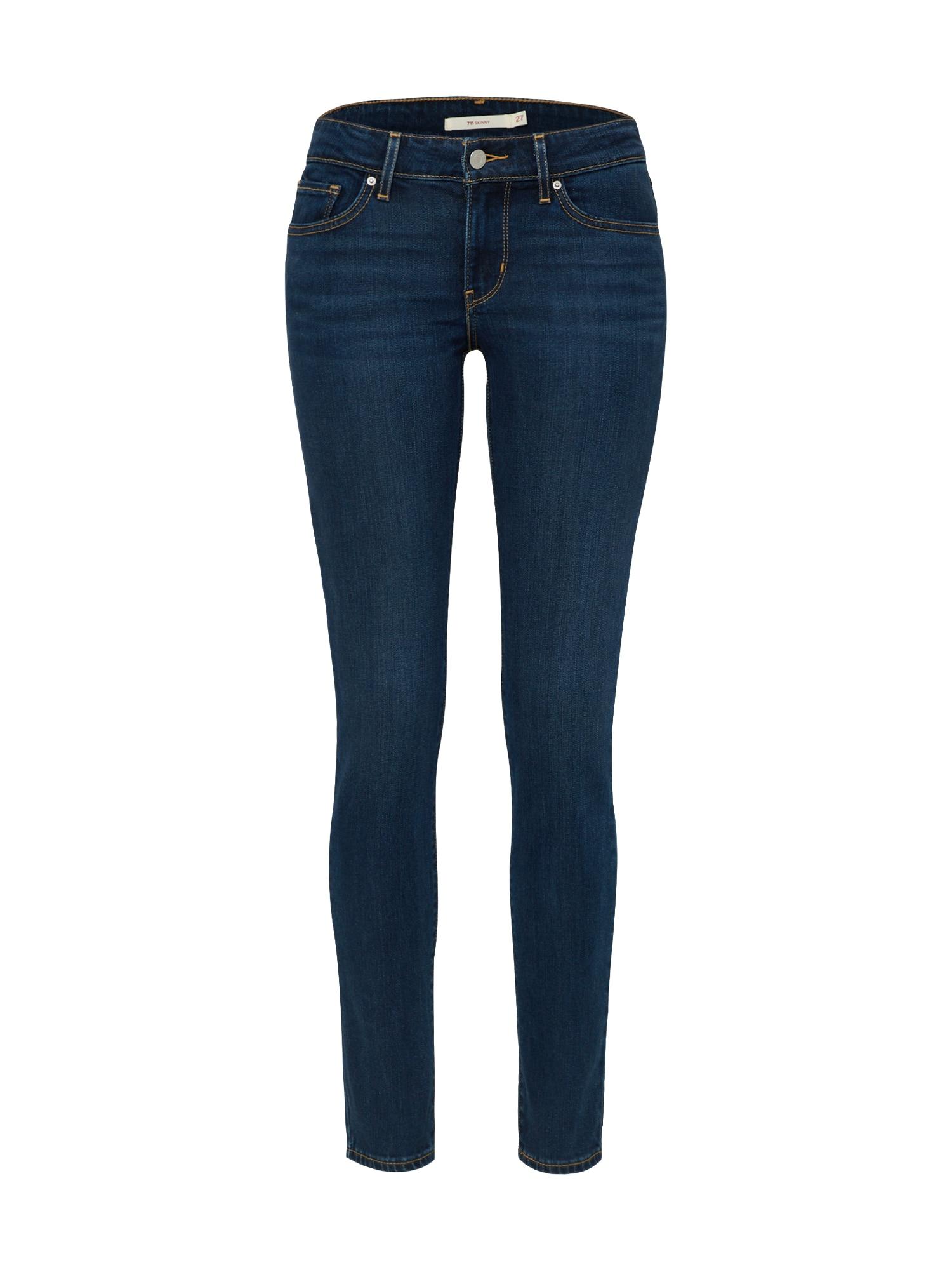 LEVI'S Dames Jeans 711 blue denim